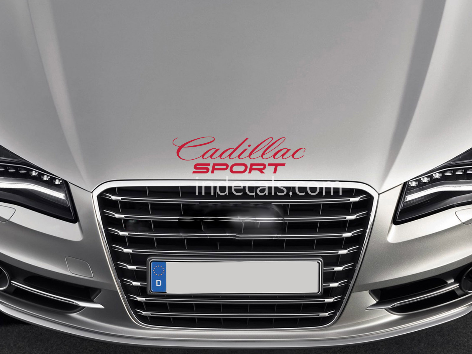 1 x Cadillac Sport Sticker for Bonnet - Red