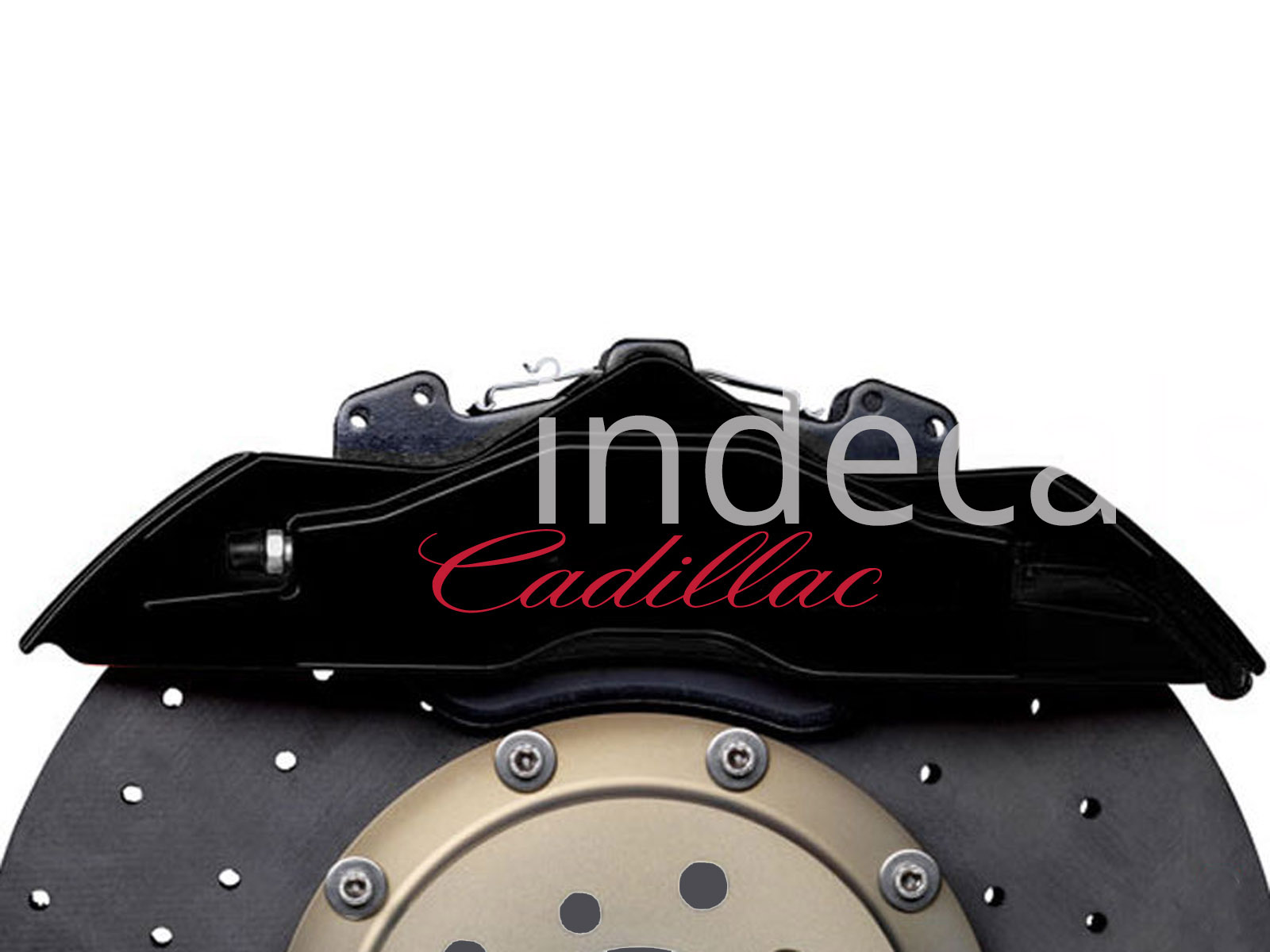6 x Cadillac Stickers for Brakes - Red
