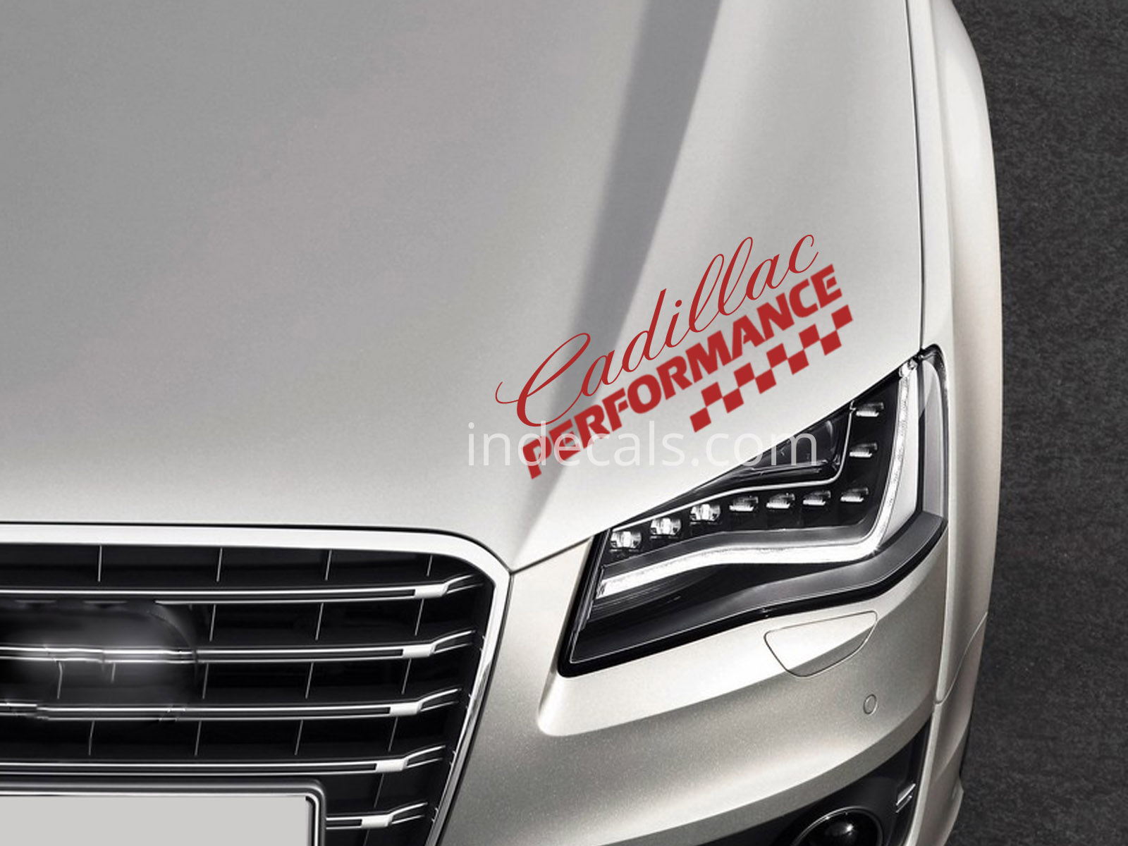 1 x Cadillac Performance Sticker - Red
