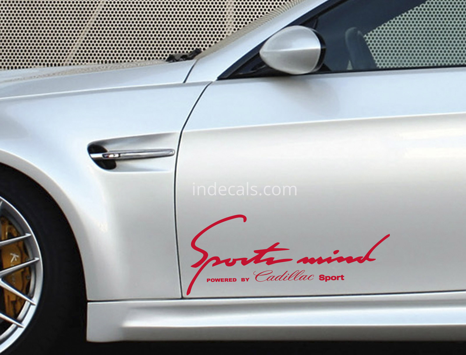 2 x Cadillac Sports Mind Stickers - Red