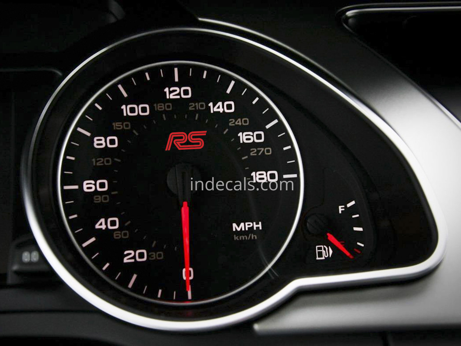 3 x Ford RS Stickers for Speedometer - Red