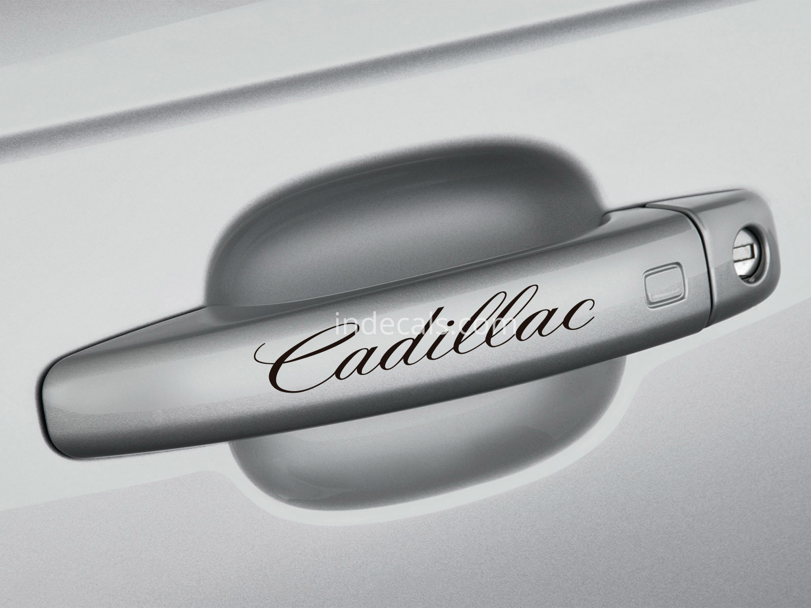 6 x Cadillac Stickers for Door Handles - Black