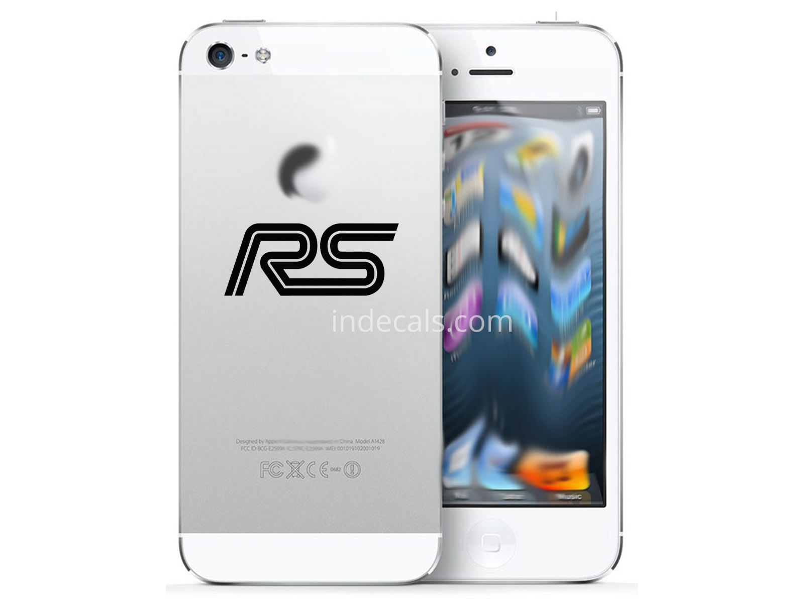 3 x Ford RS Stickers for Smartphone - Black