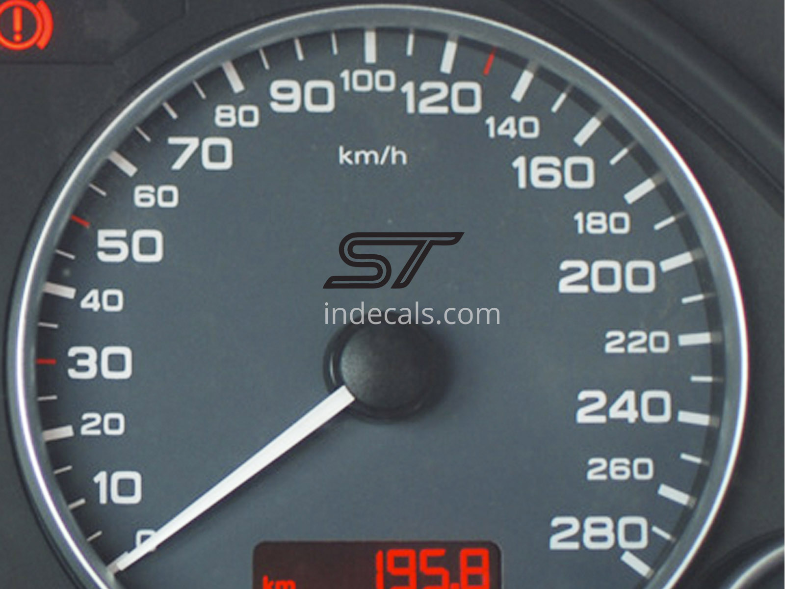 3 x Ford ST Stickers for Speedometer - Black