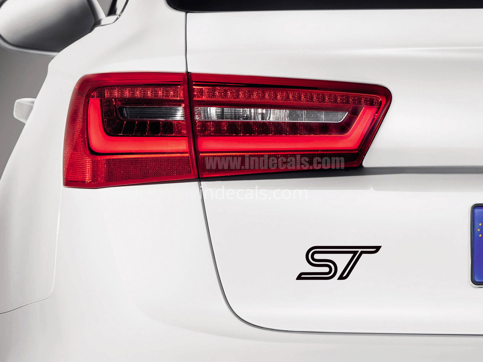 3 x Ford ST Stickers for Trunk - Black