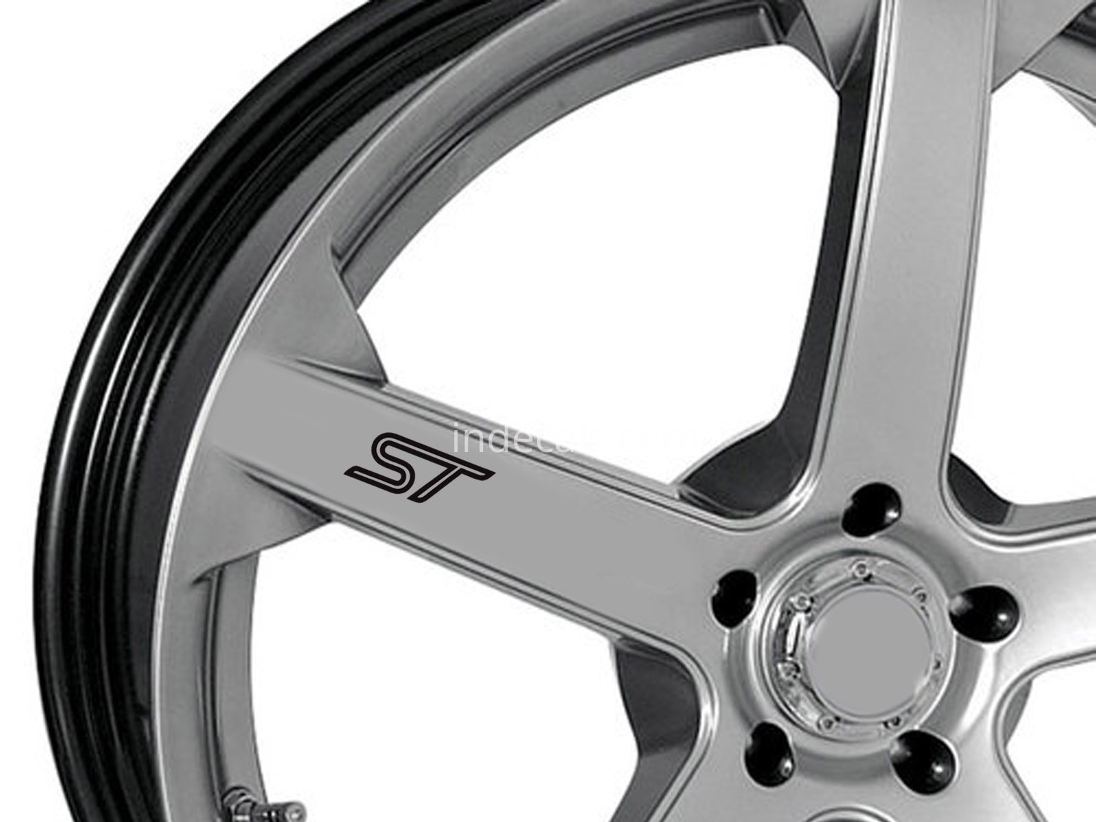 6 x Ford ST Stickers for Wheels - Black