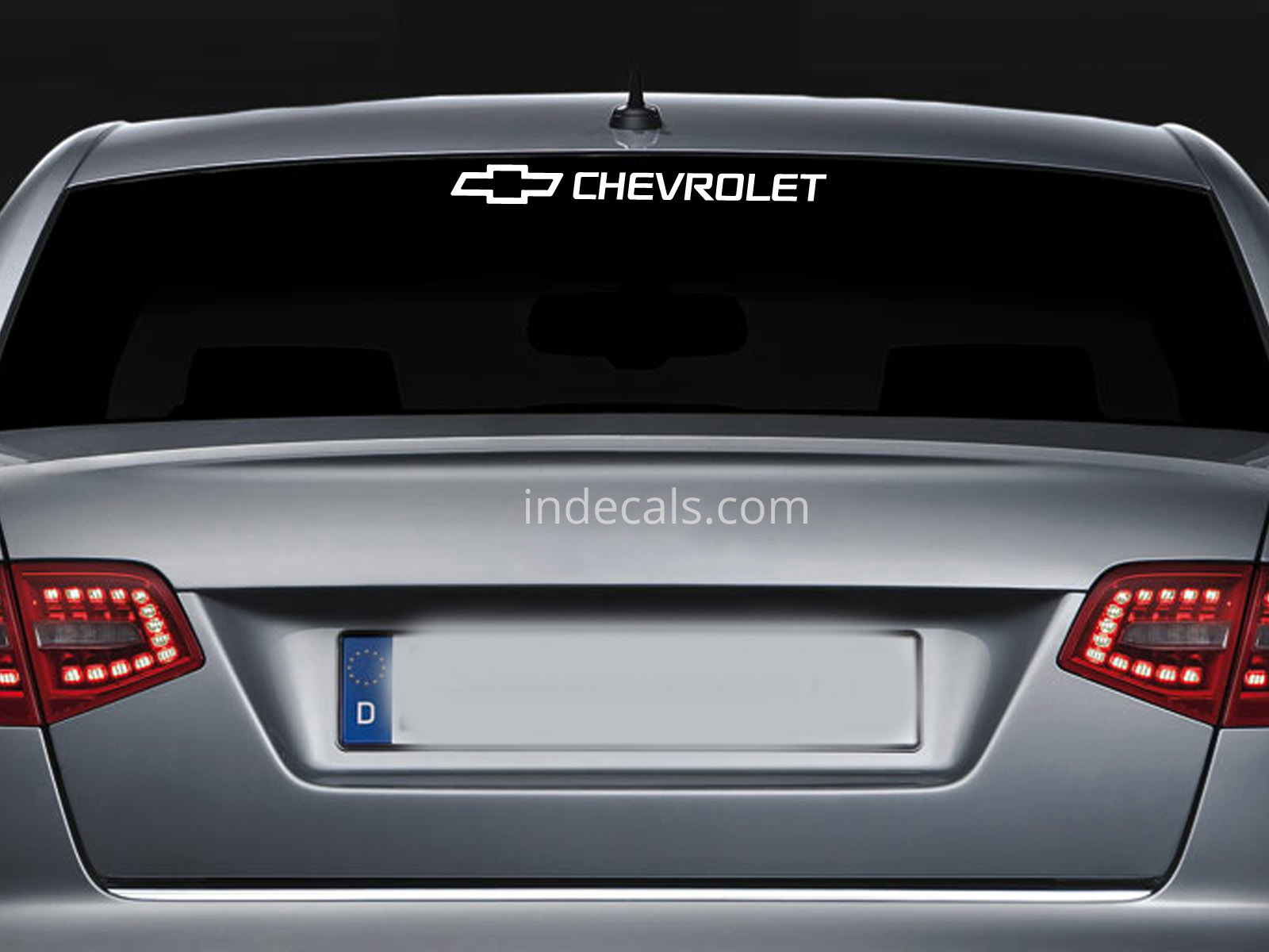1 x Chevrolet Sticker for Windshield or Back Window - White