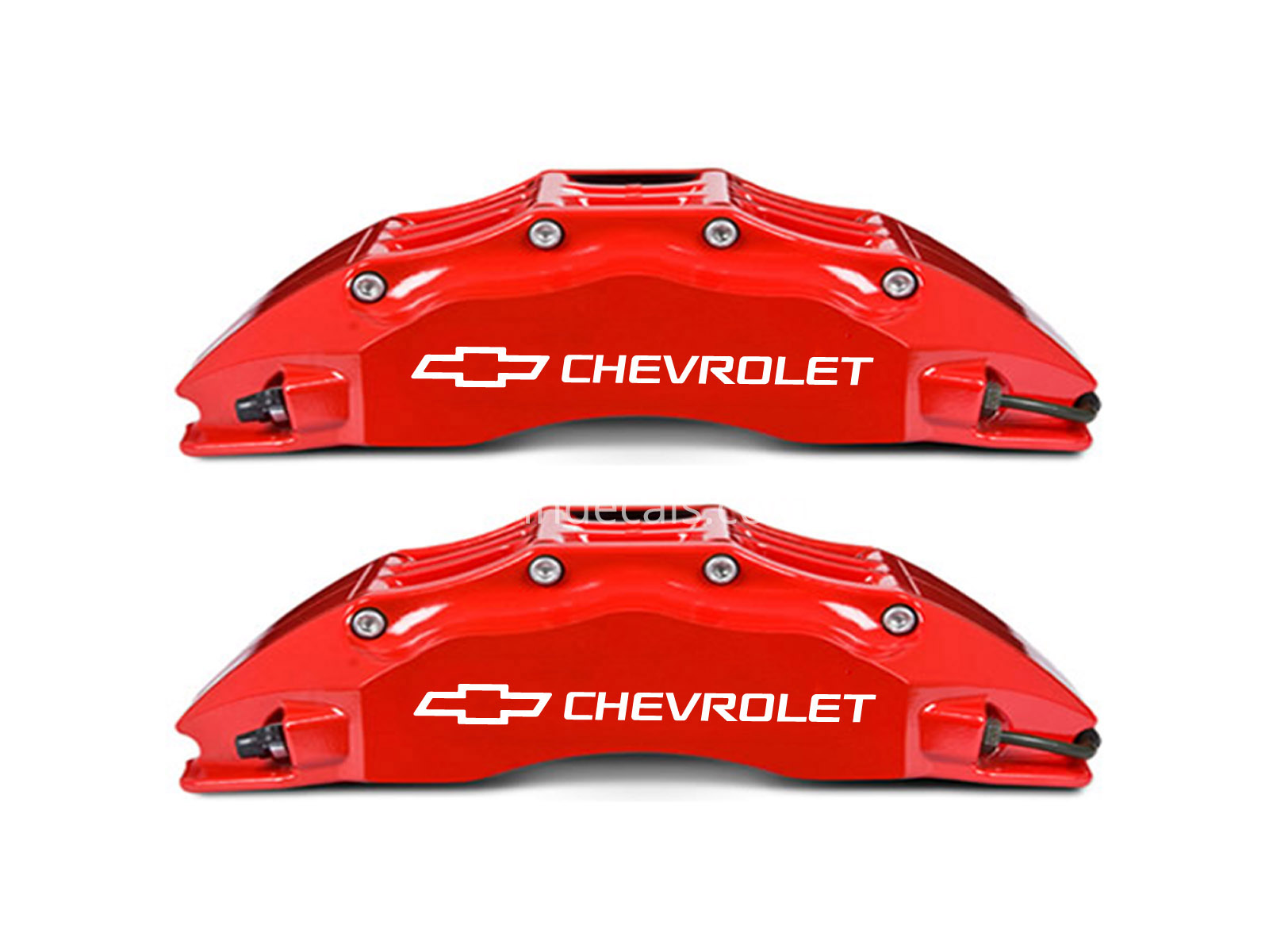 6 x Chevrolet Stickers for Brakes - White