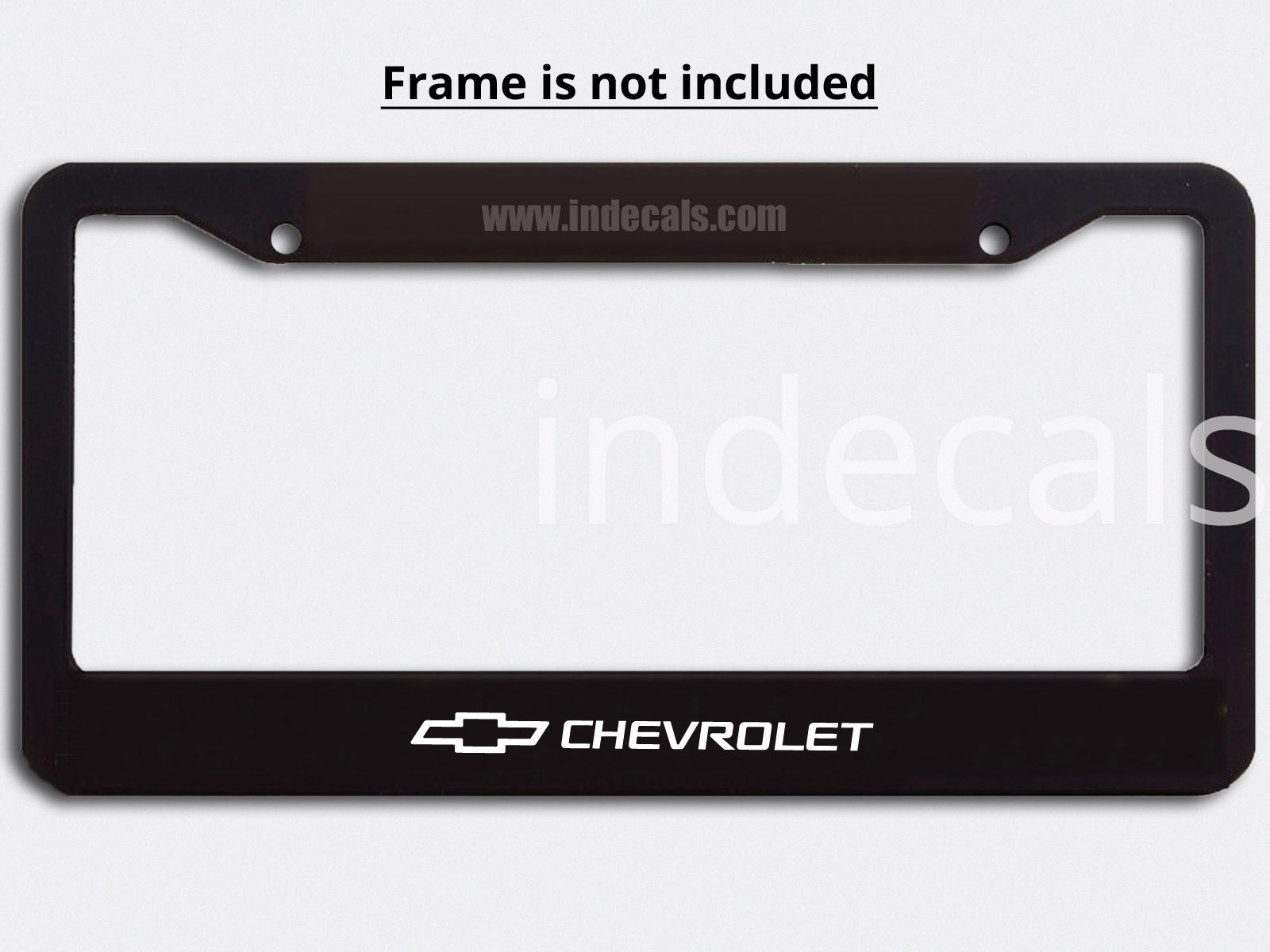 3 x Chevrolet Stickers for Plate Frame - White