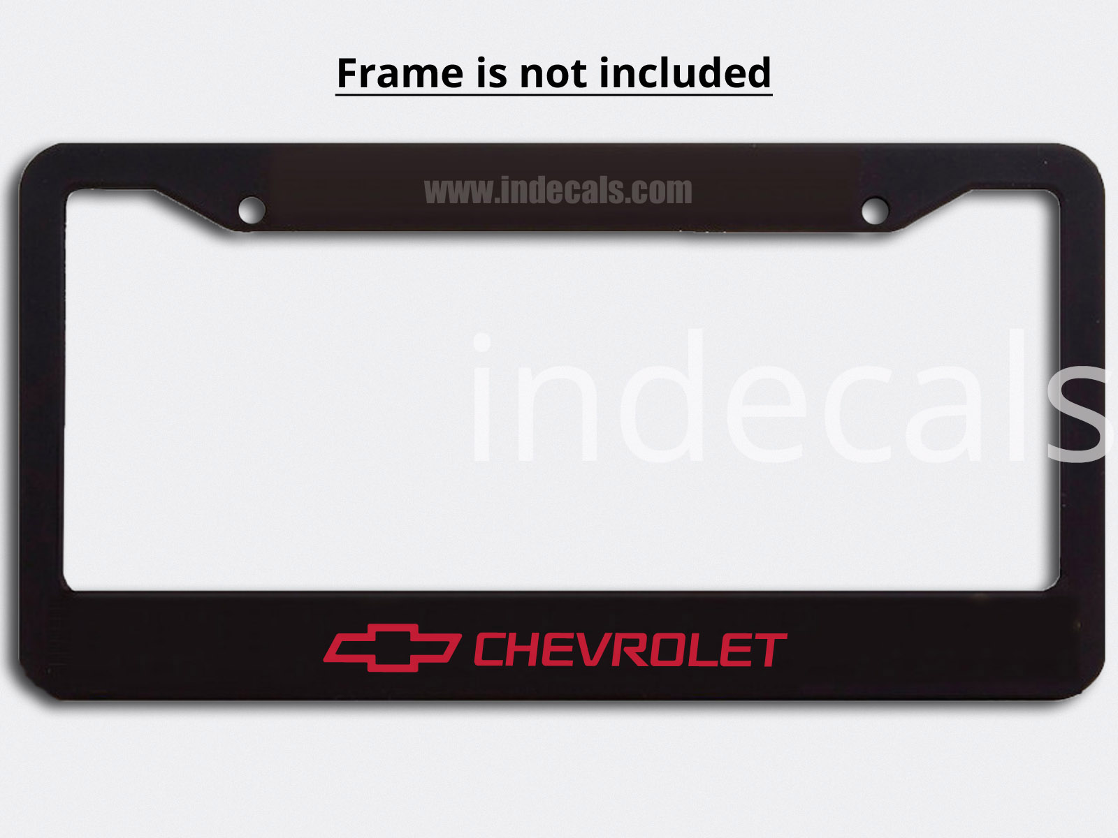 3 x Chevrolet Stickers for Plate Frame - Red