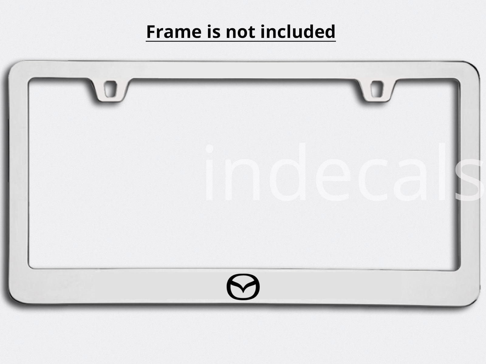 3 x Mazda Stickers for License Plate Frame - Black - indecals.com