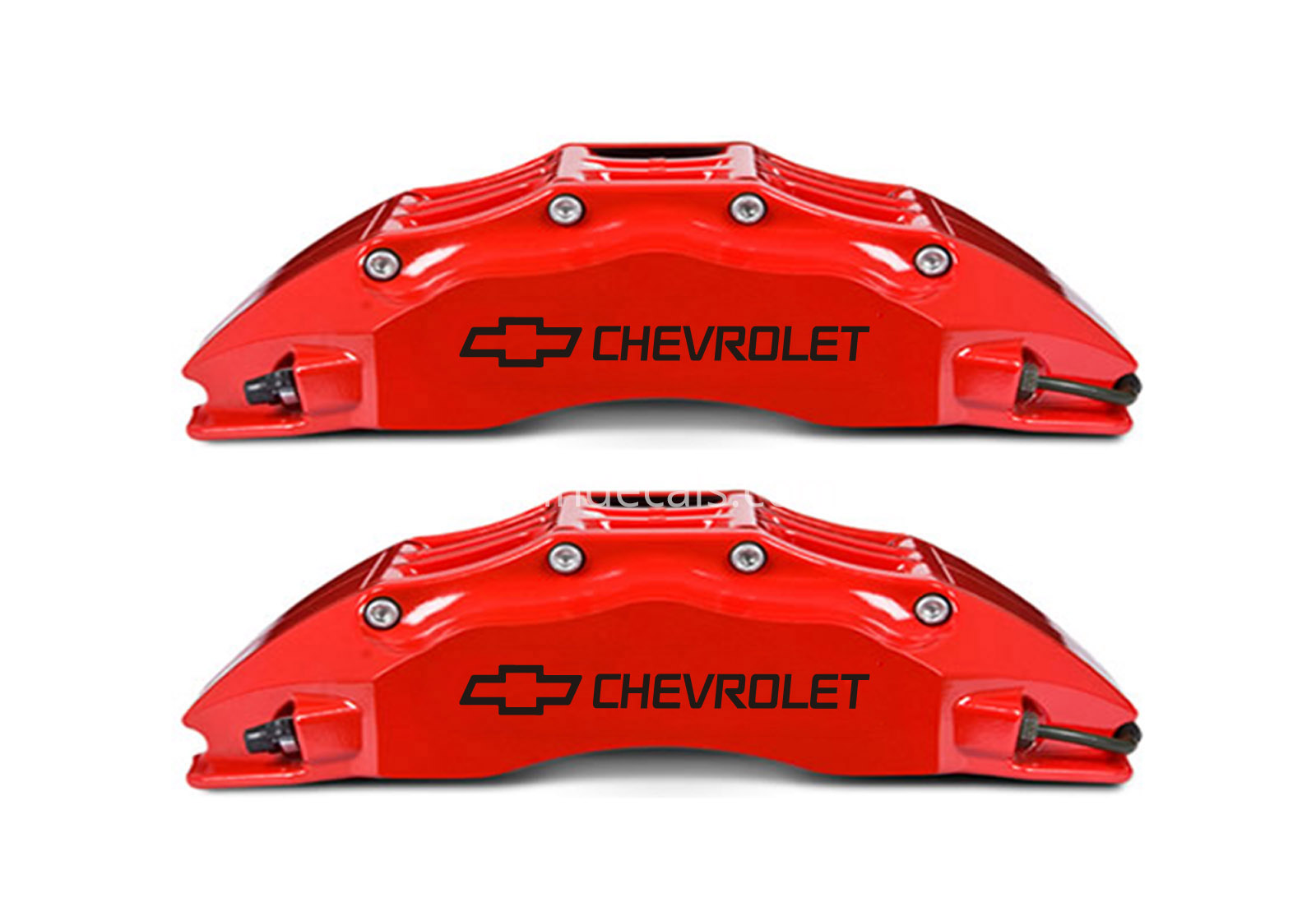 6 x Chevrolet Stickers for Brakes - Black