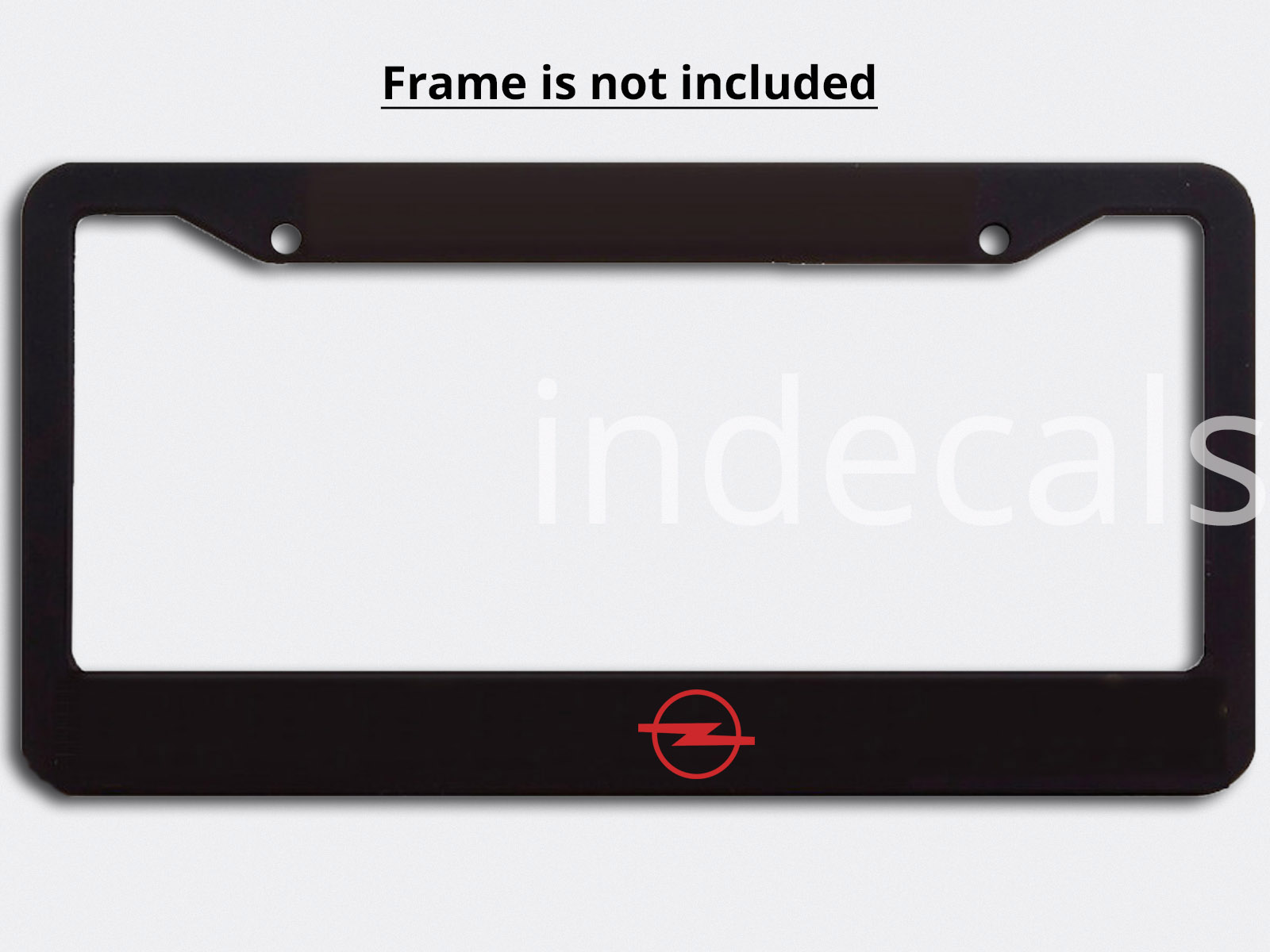 3 x Opel Stickers for License Plate Frame - Red
