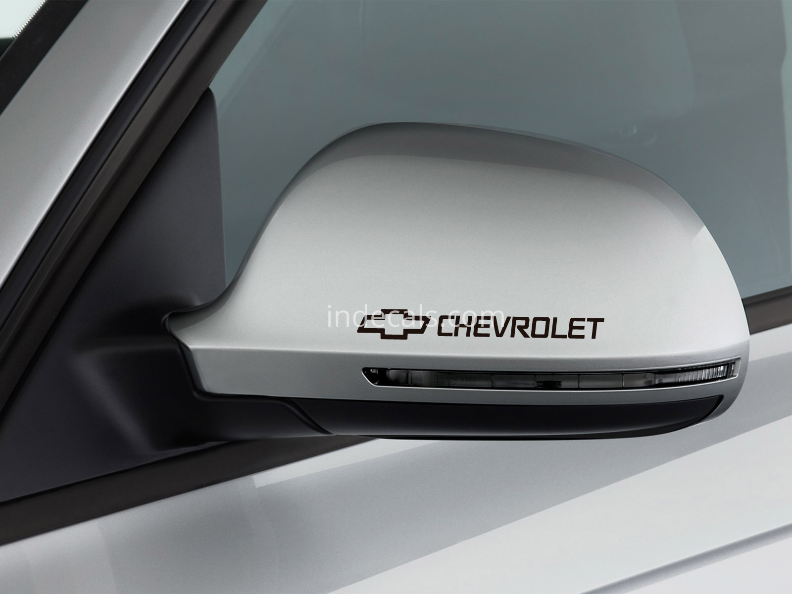 3 x Chevrolet Stickers for Mirrors - Black