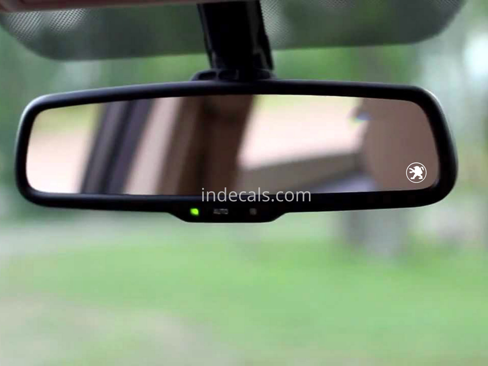 3 x Peugeot Stickers for Interior Mirror - White