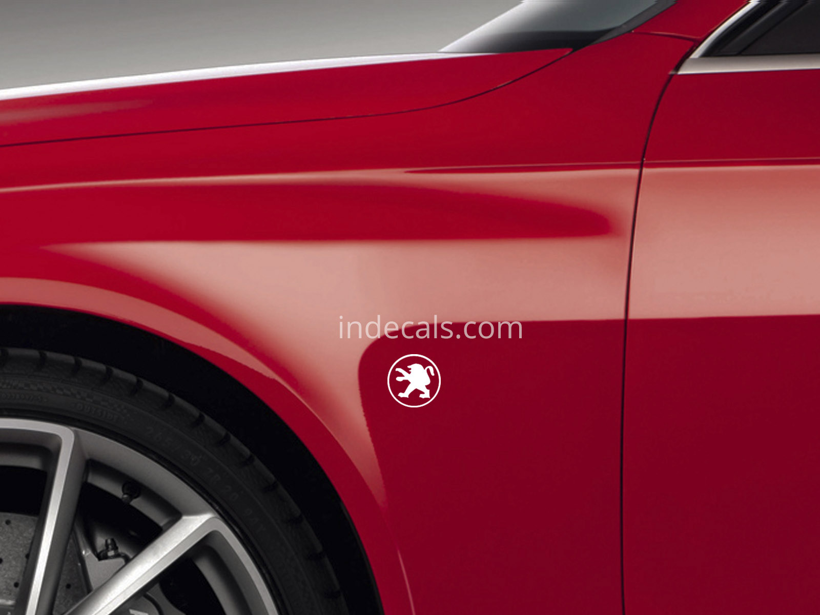 3 x Peugeot Stickers for Wings - White