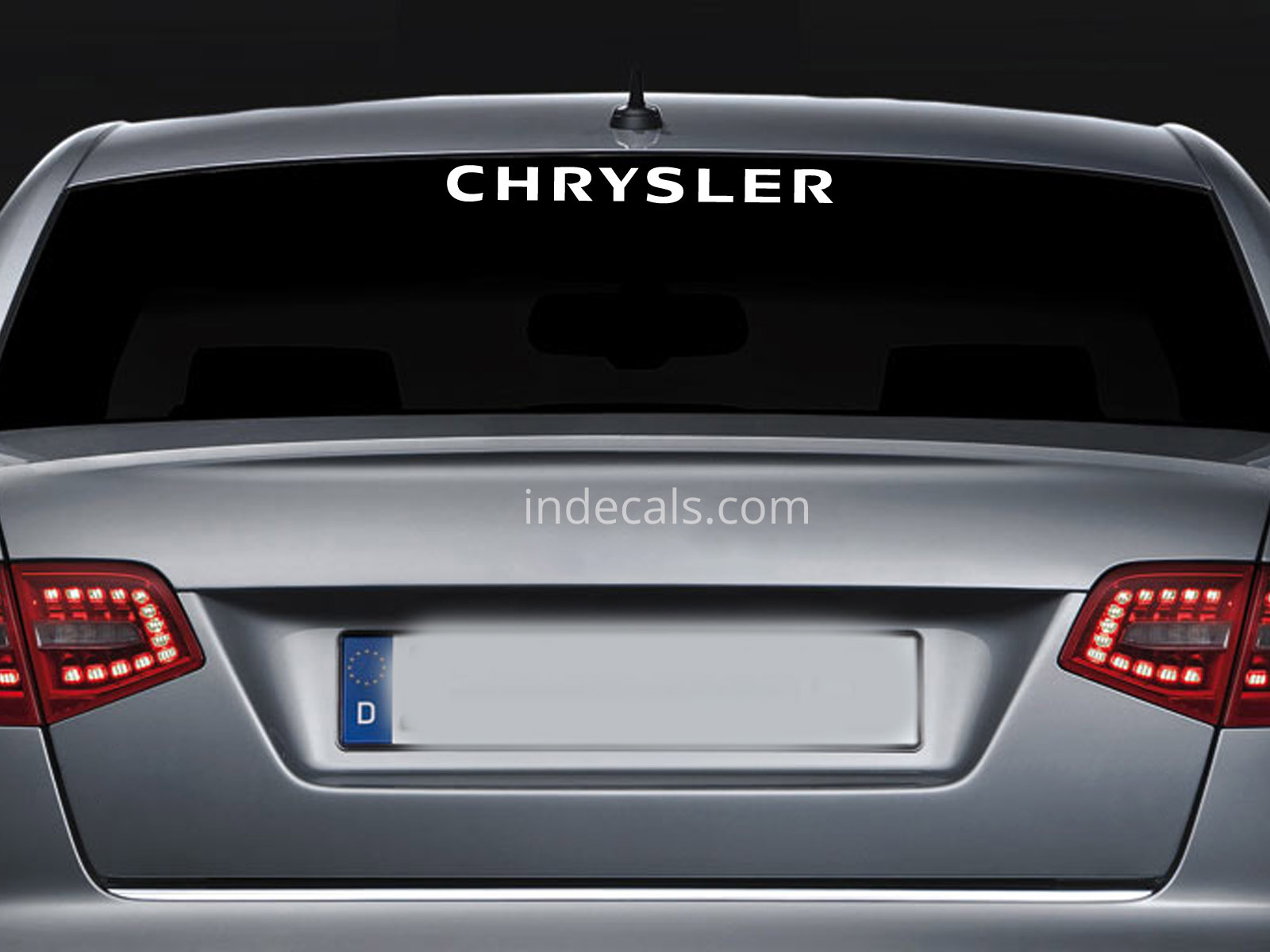 1 x Chrysler Sticker for Windshield or Back Window - White