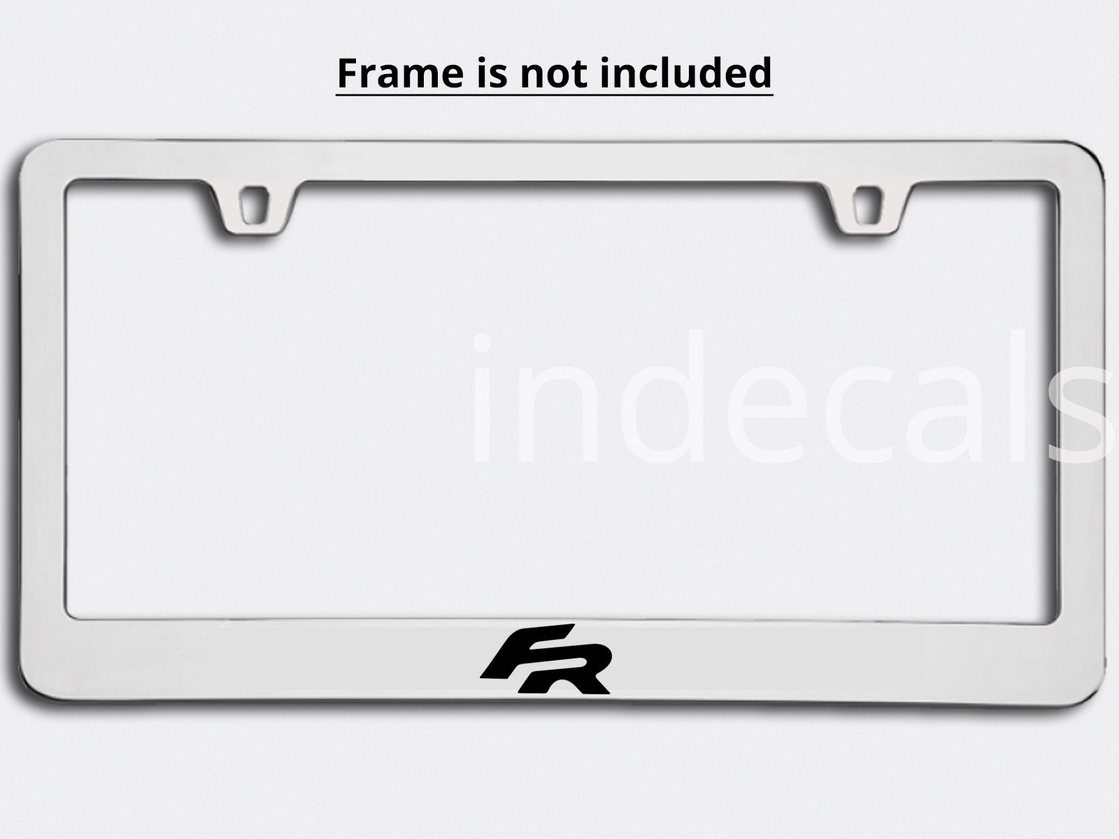 3 x Seat FR Stickers for License Plate Frame - Black