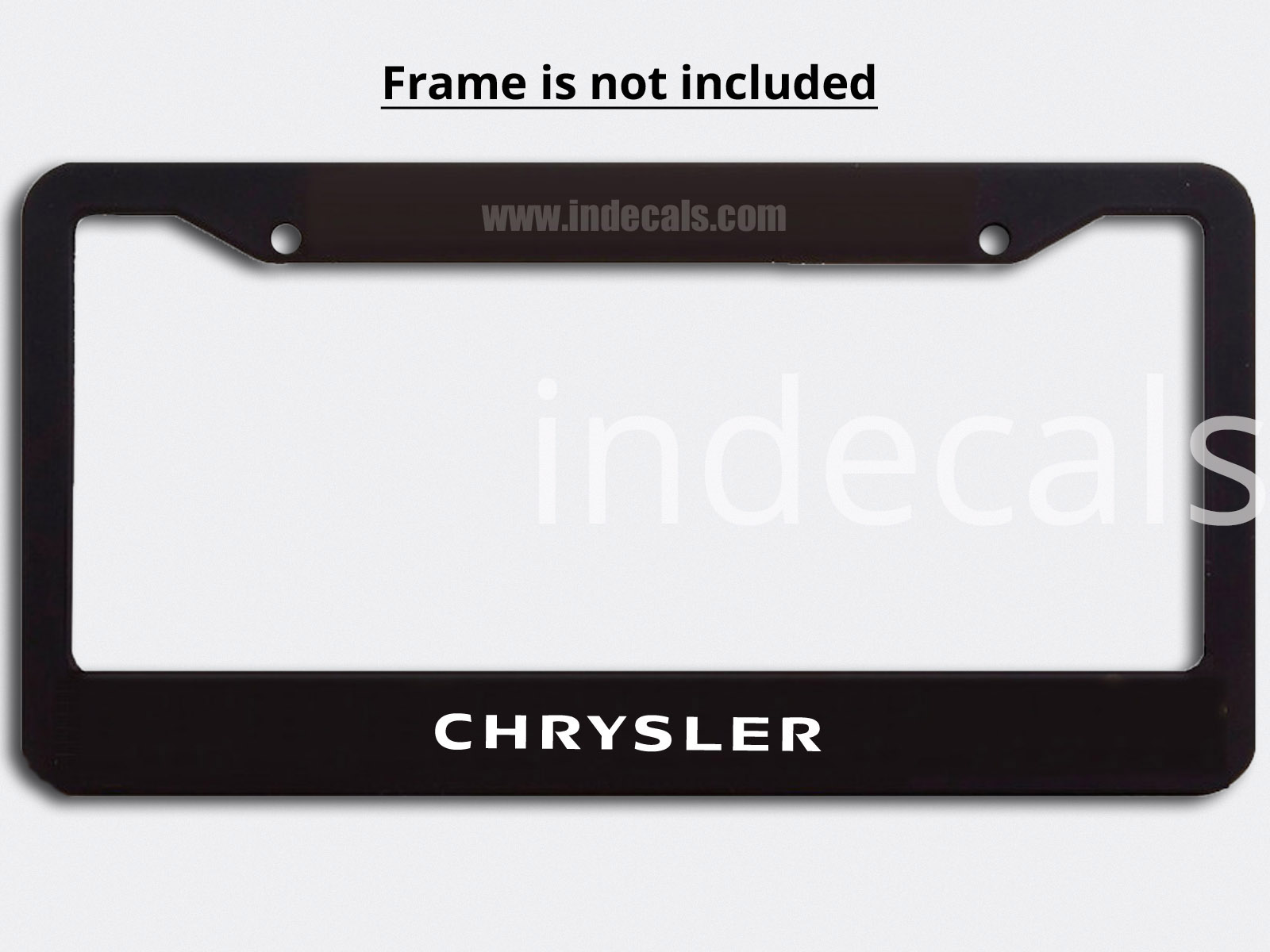3 x Chrysler Stickers for Plate Frame - White