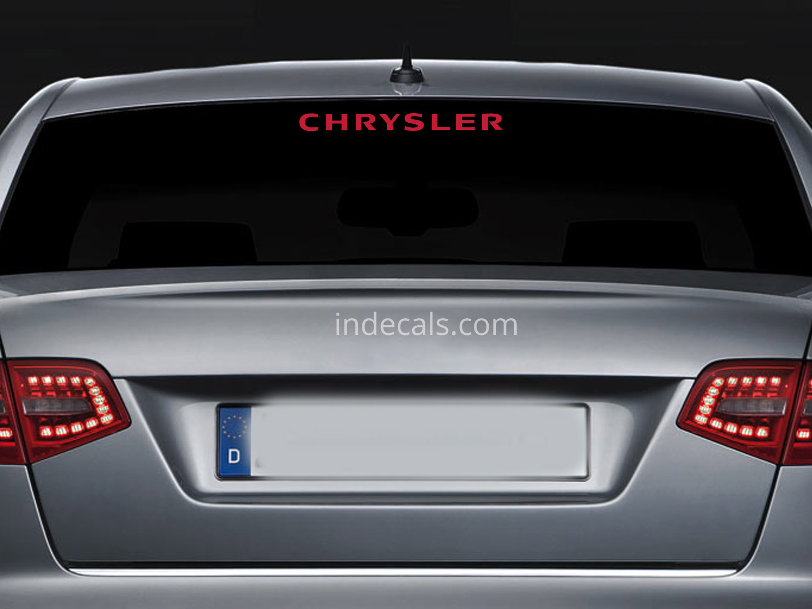1 x Chrysler Sticker for Windshield or Back Window - Red
