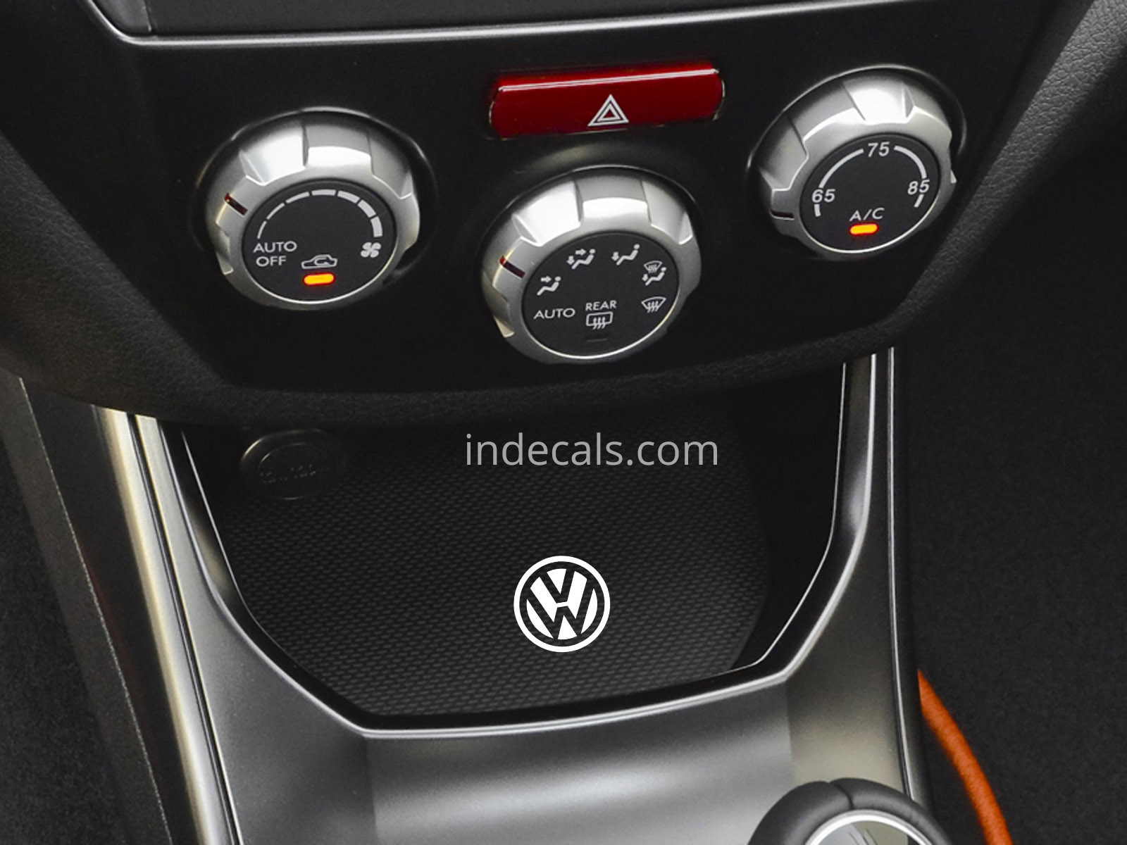 3 x Volkswagen Stickers for Ashtray - White
