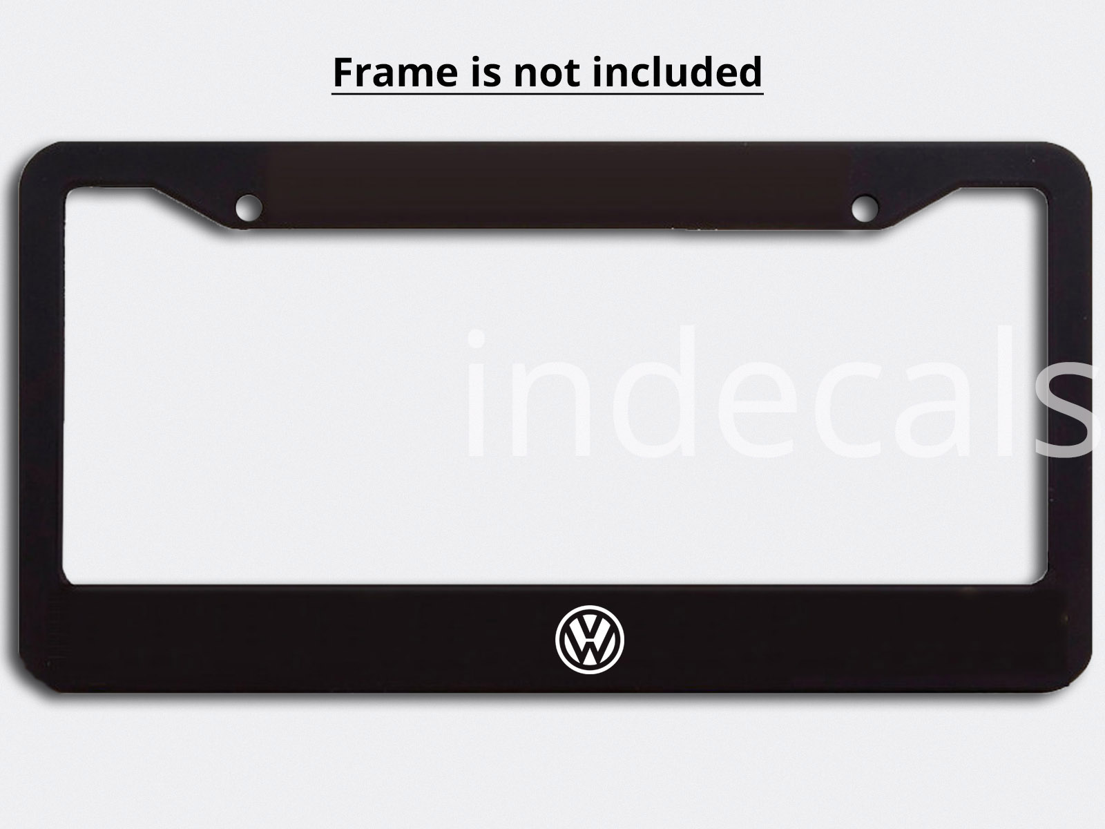 3 x Volkswagen Stickers for License Plate Frame - White