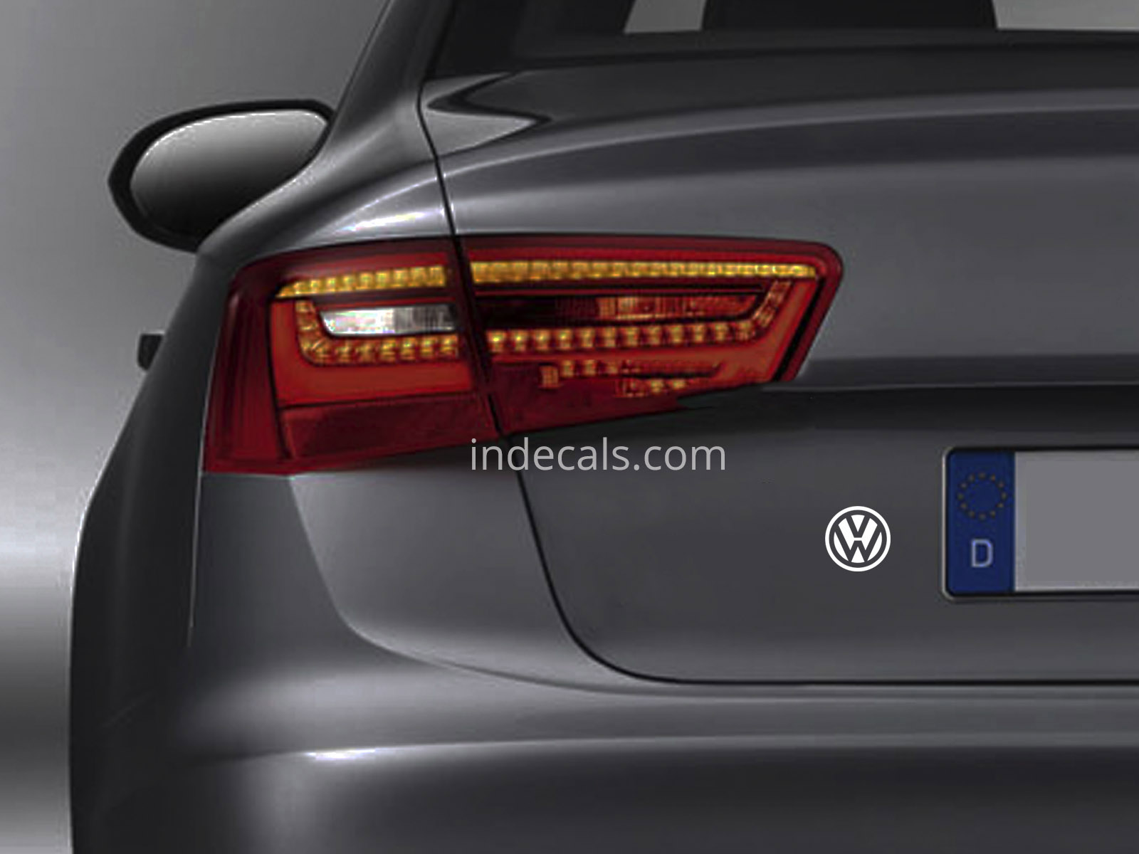 3 x Volkswagen Stickers for Trunk - White