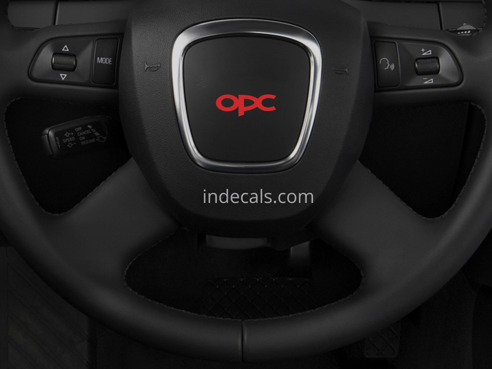3 x Opel OPC Stickers for Steering Wheel - Red