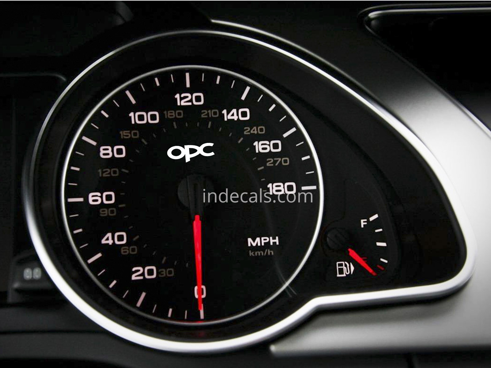 3 x Opel OPC Stickers for Speedometer - White