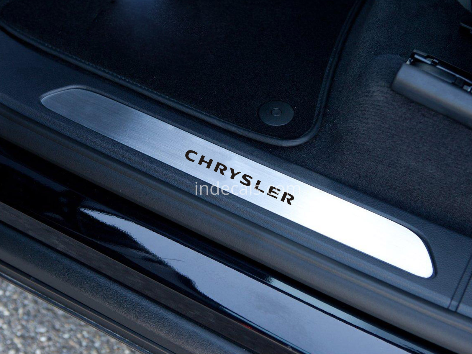 6 x Chrysler Stickers for Door Sills - Black