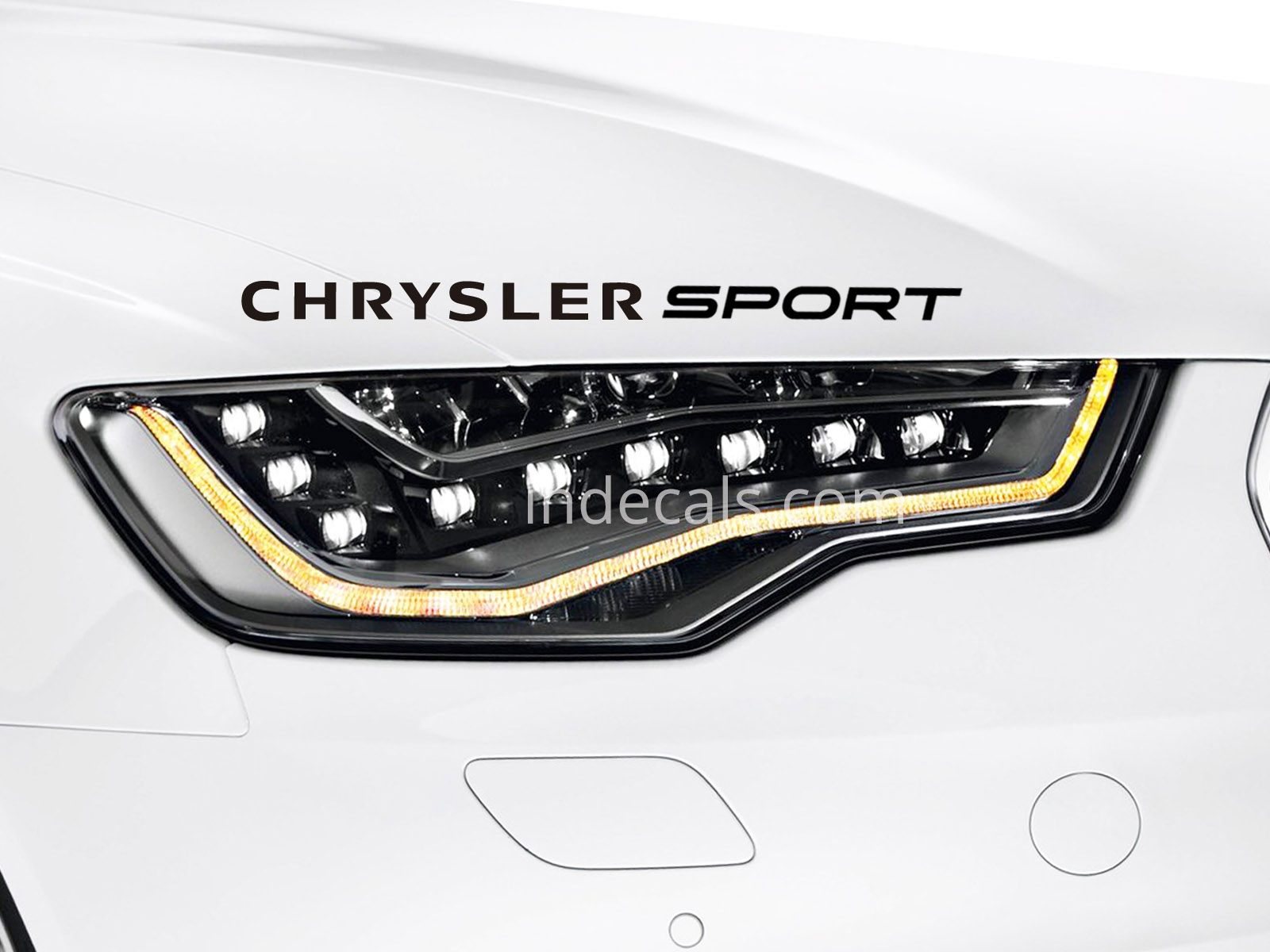 1 x Chrysler Sport Sticker - Black