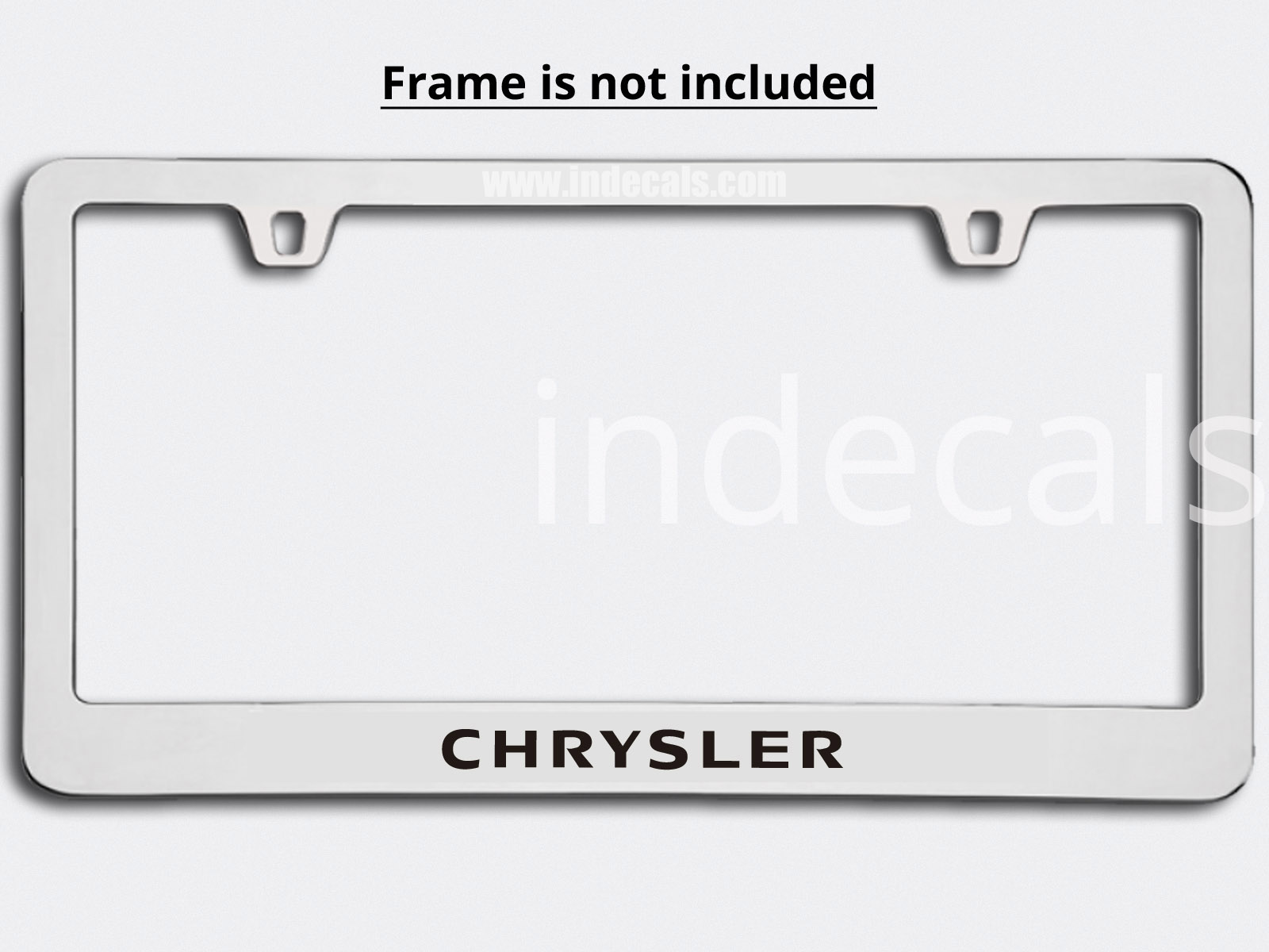 3 x Chrysler Stickers for Plate Frame - Black