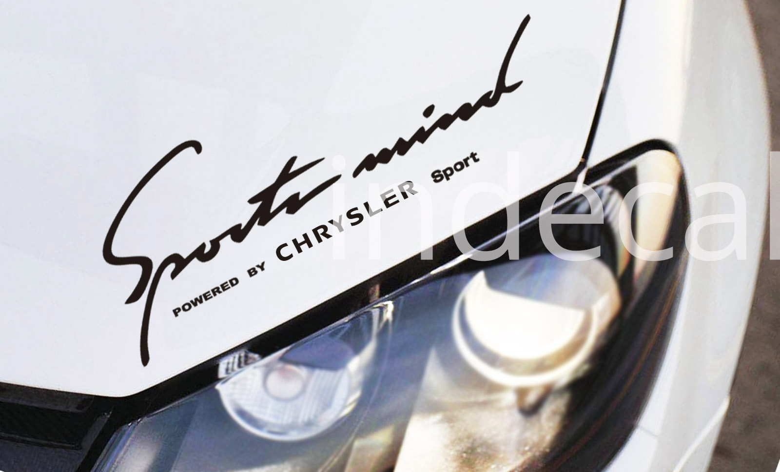 1 x Chrysler Sports Mind Sticker - Black
