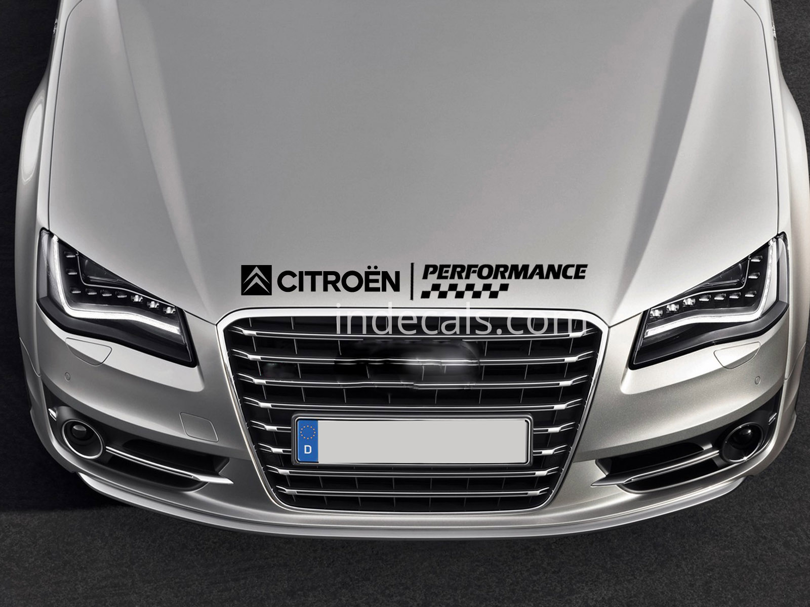 1 x Citroen Performance Sticker for Bonnet - Black