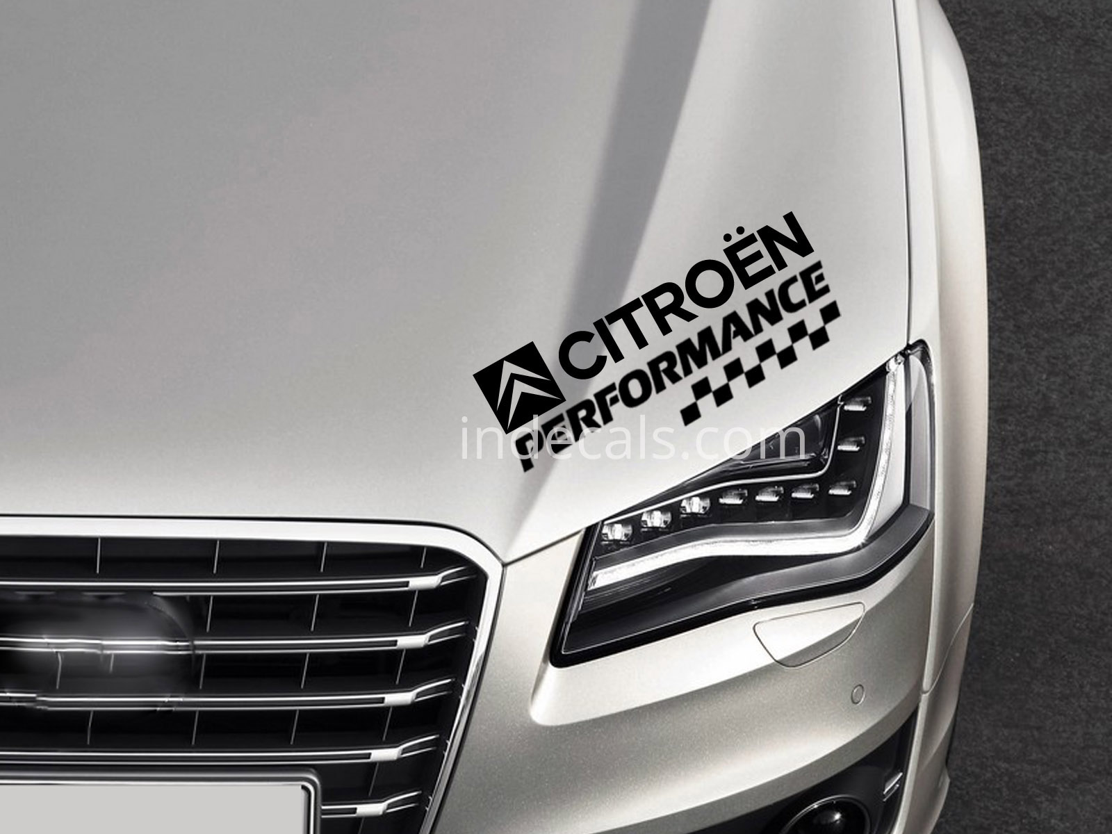 1 x Citroen Performance Sticker - Black