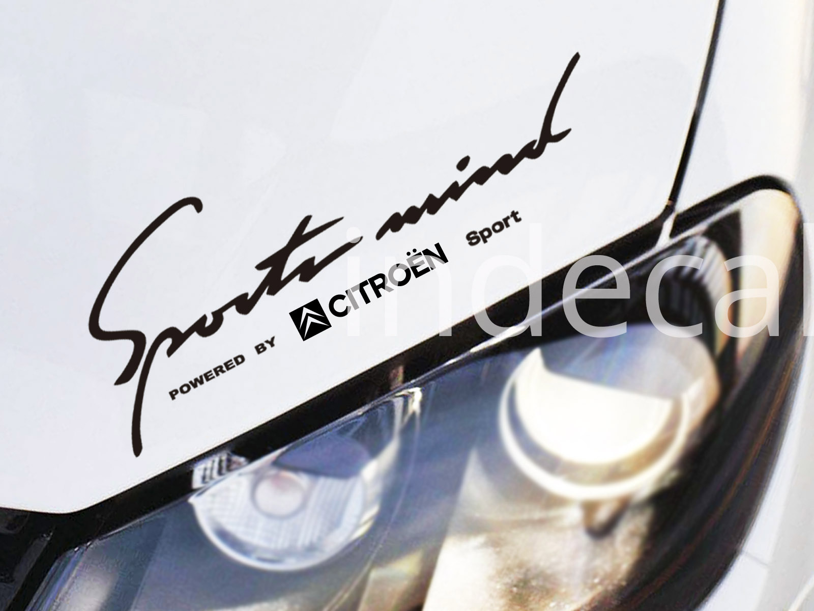 1 x Citroen Sports Mind Sticker - Black
