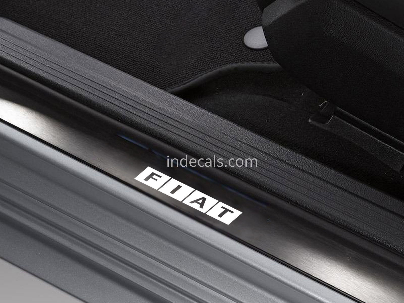 6 x Fiat Stickers for Door Sills - White