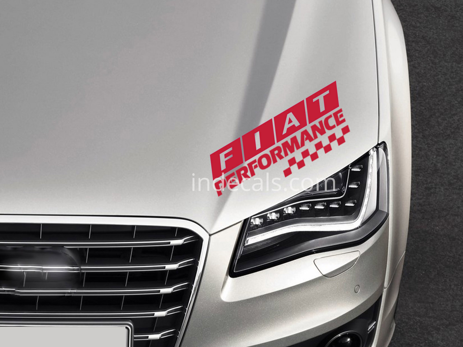 1 x Fiat Performance Sticker - Red