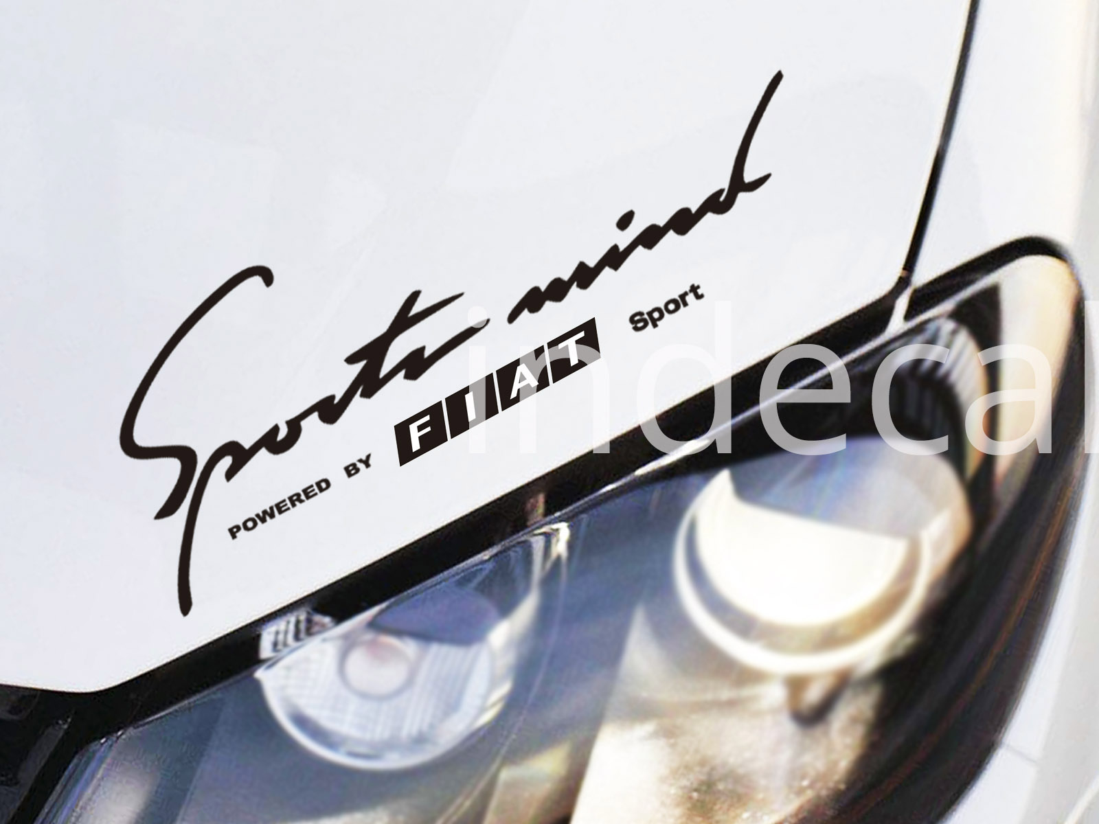 1 x Fiat Sports Mind Sticker - Black