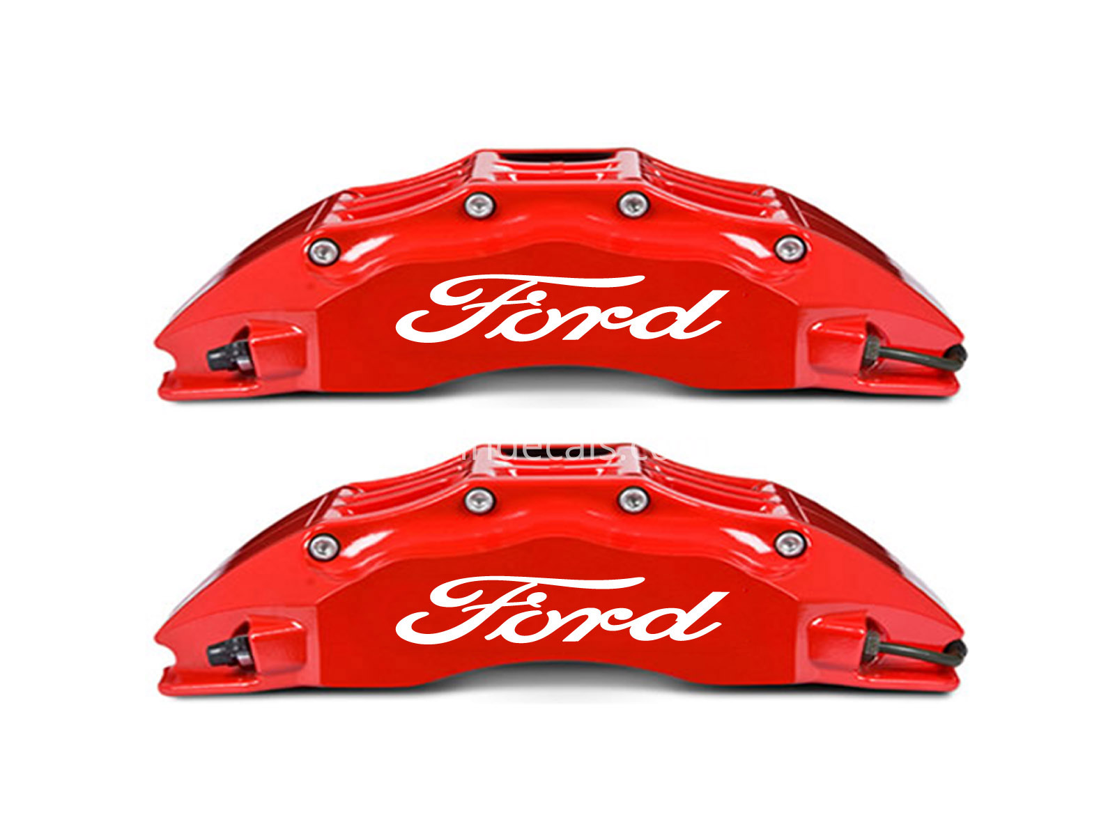 6 x Ford Stickers for Brakes - White