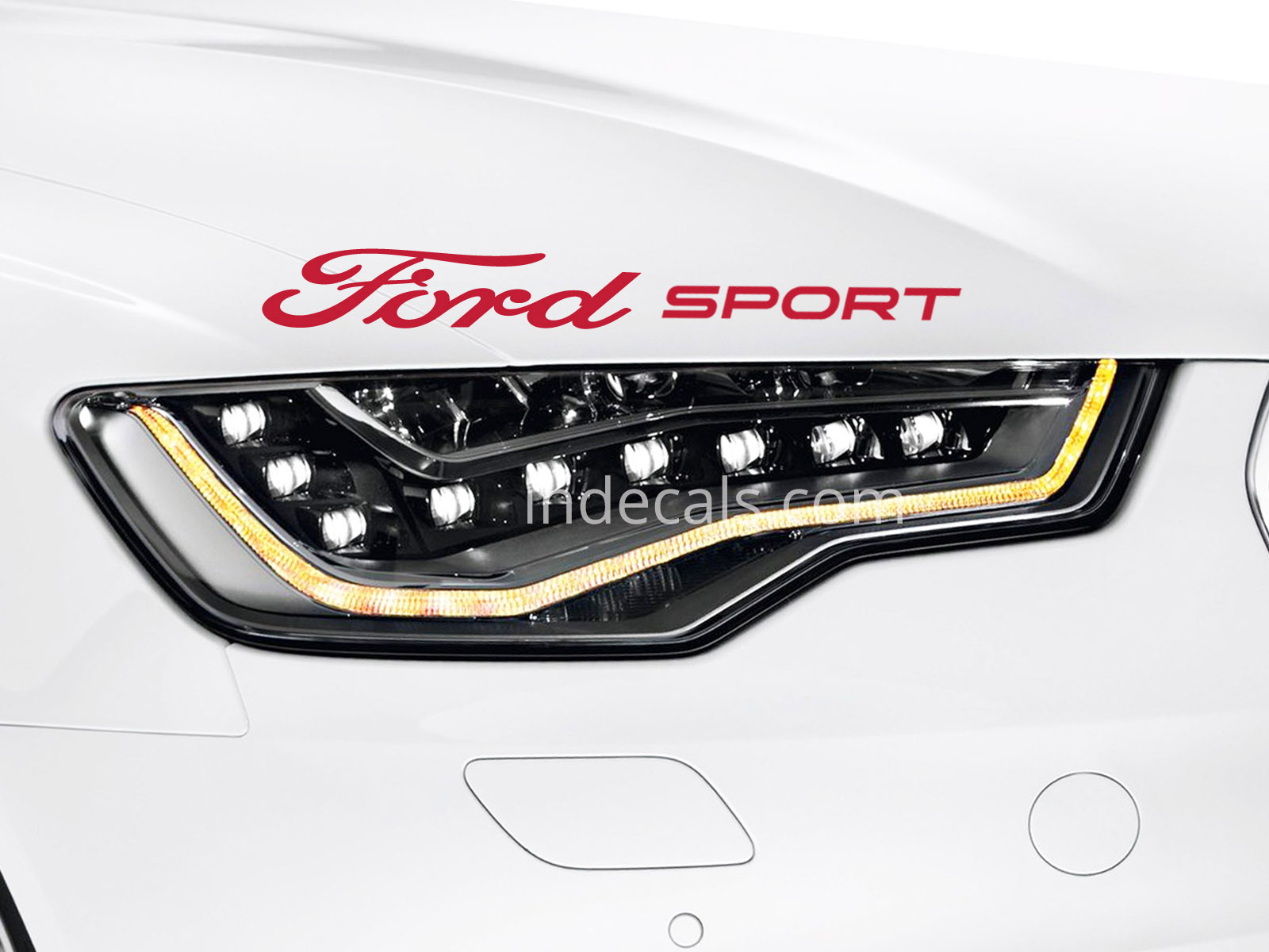 1 x ford sport sticker red
