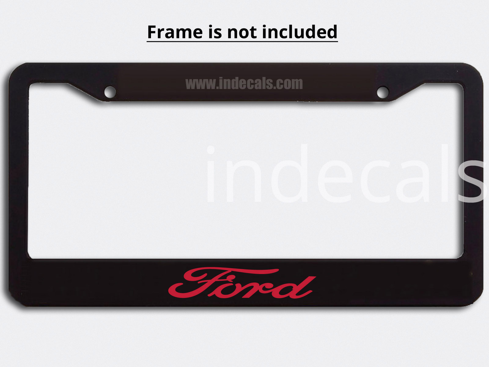 3 x Ford Stickers for Plate Frame - Red