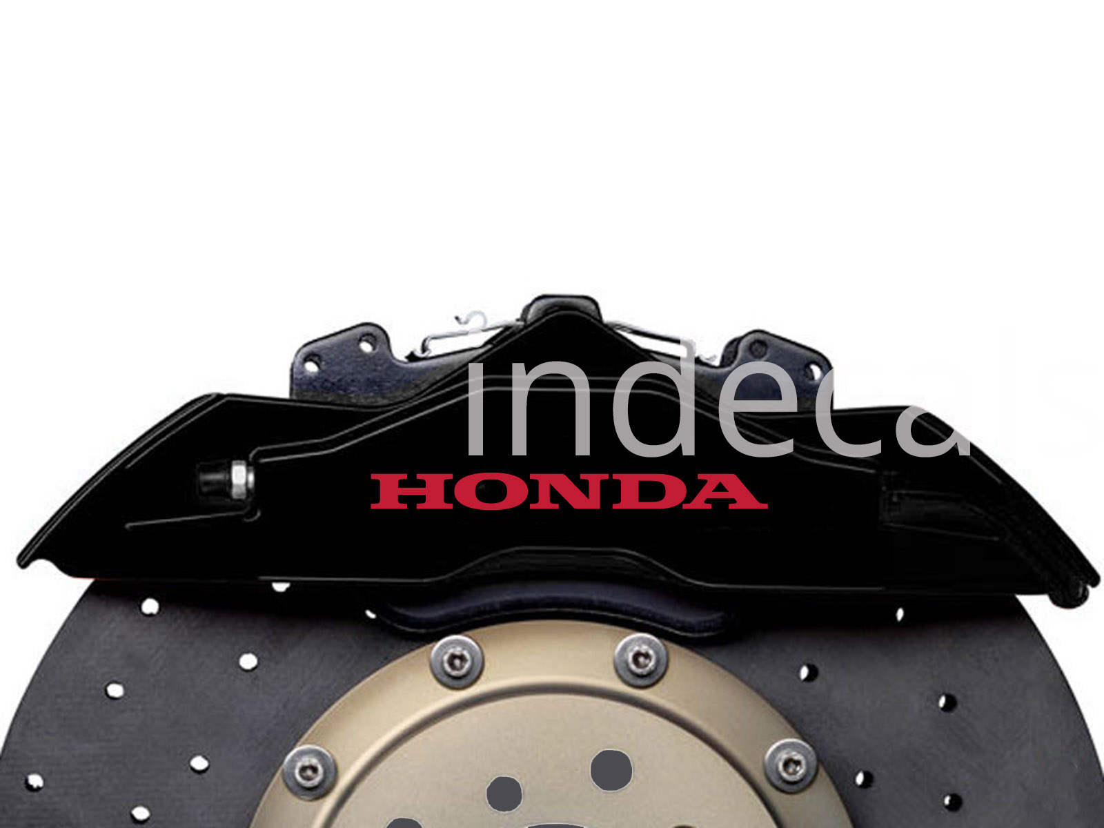 6 x Honda Stickers for Brakes - Red