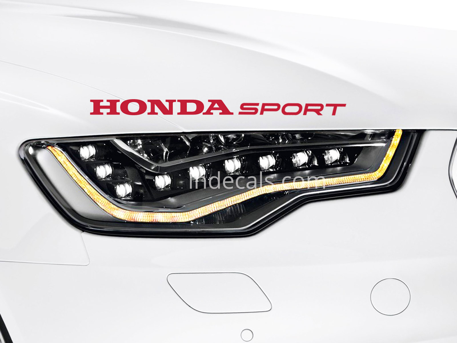 1 x honda sport sticker red