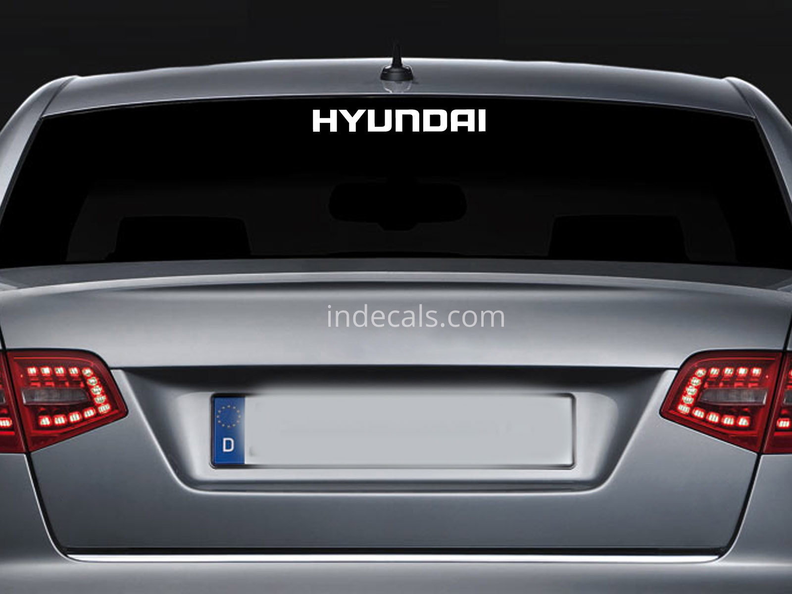 1 x Hyundai Sticker for Windshield or Back Window - White