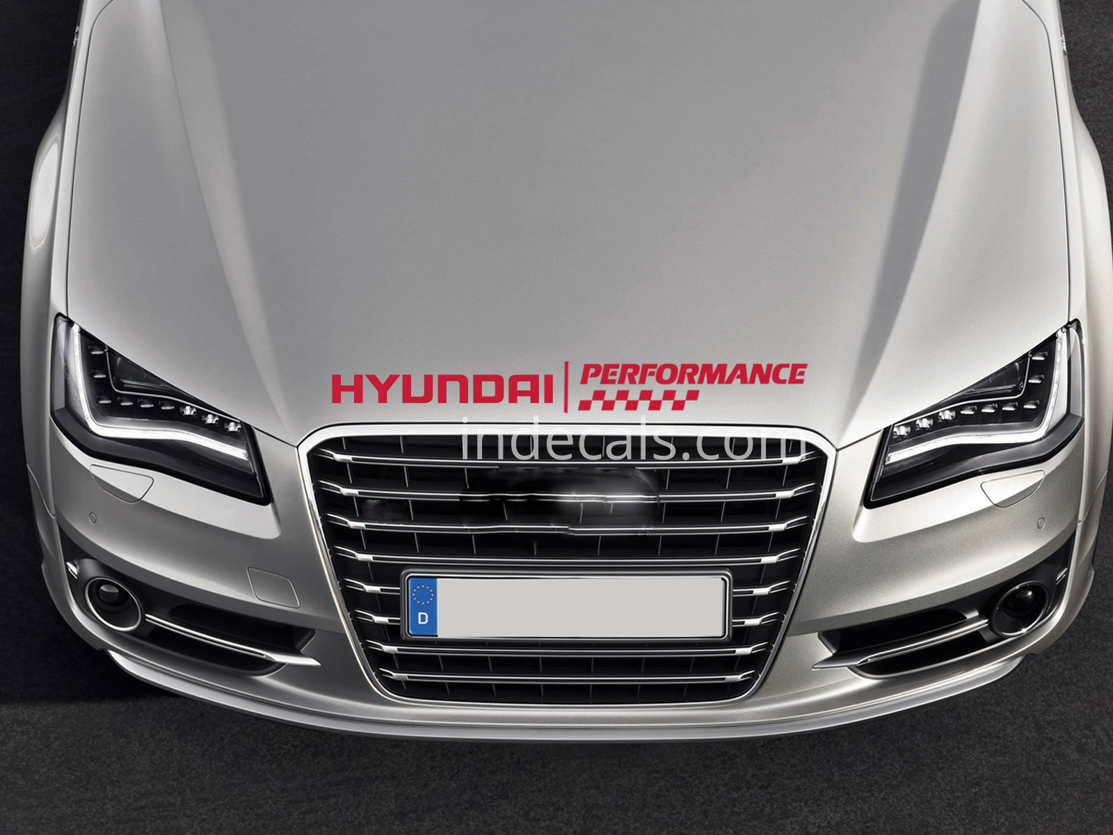 1 x Hyundai Performance Sticker for Bonnet - Red