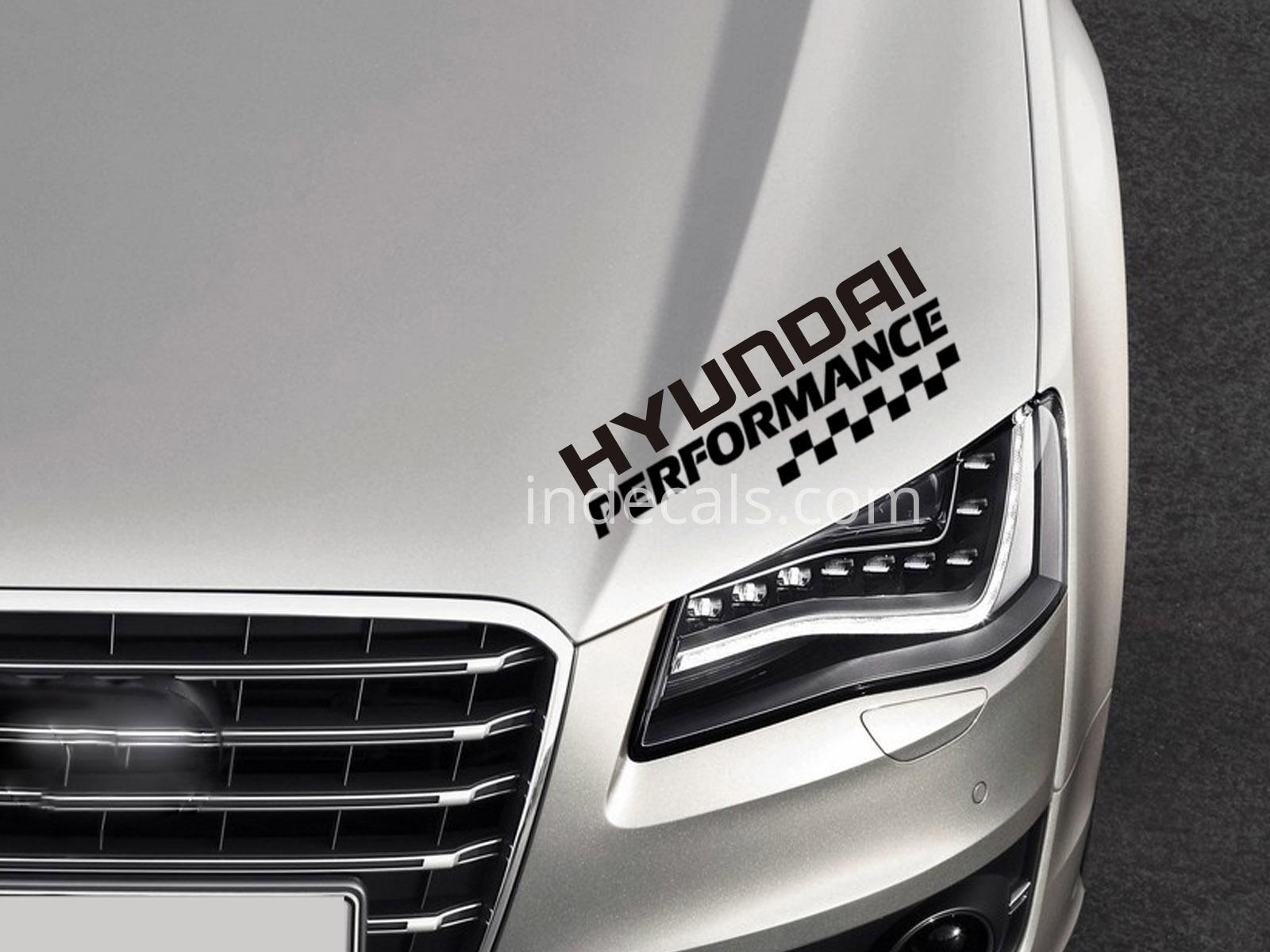 1 X Hyundai Performance Sticker Black Indecals Com
