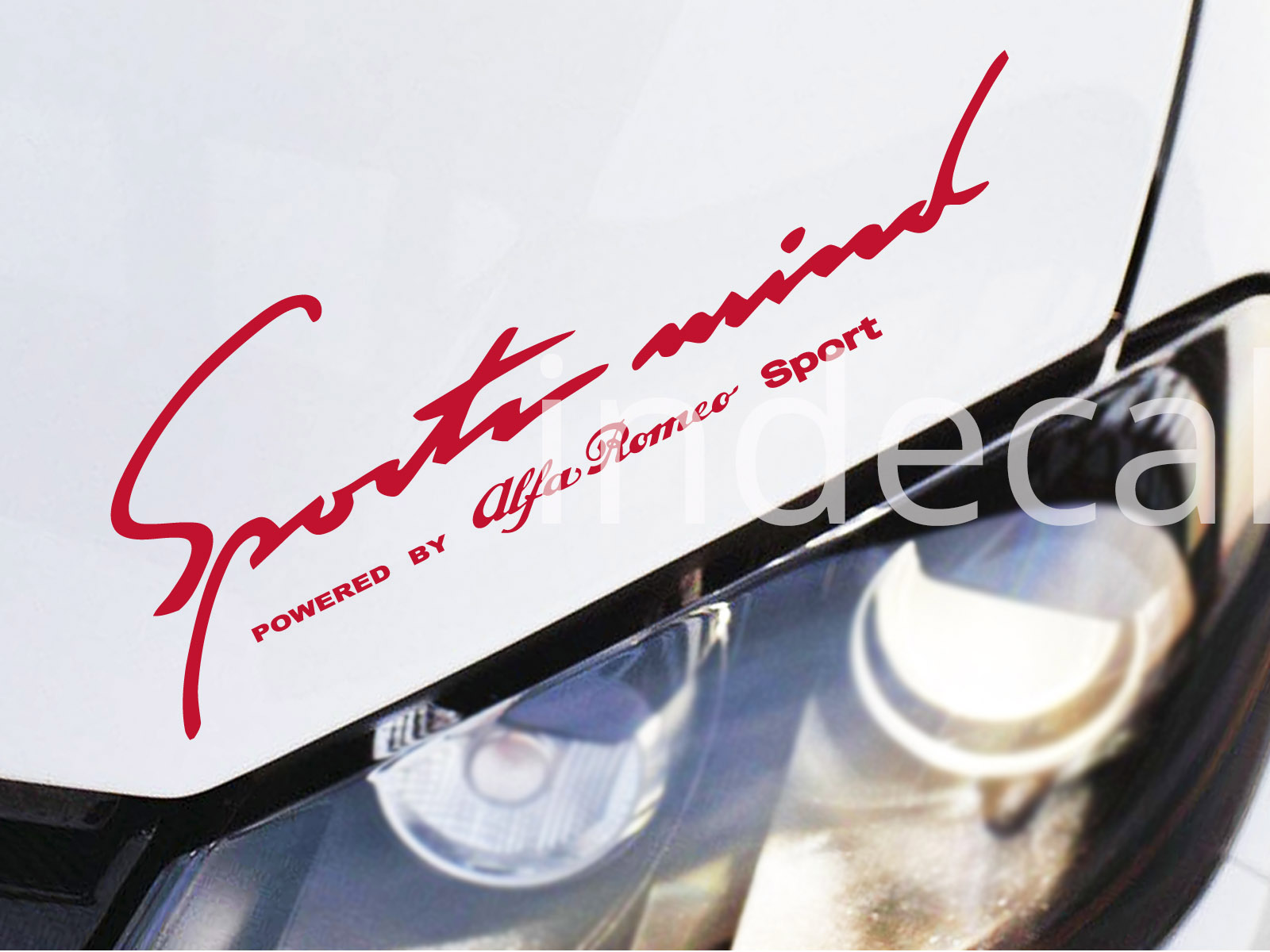 1 x Alfa Romeo Sports Mind Sticker - Red