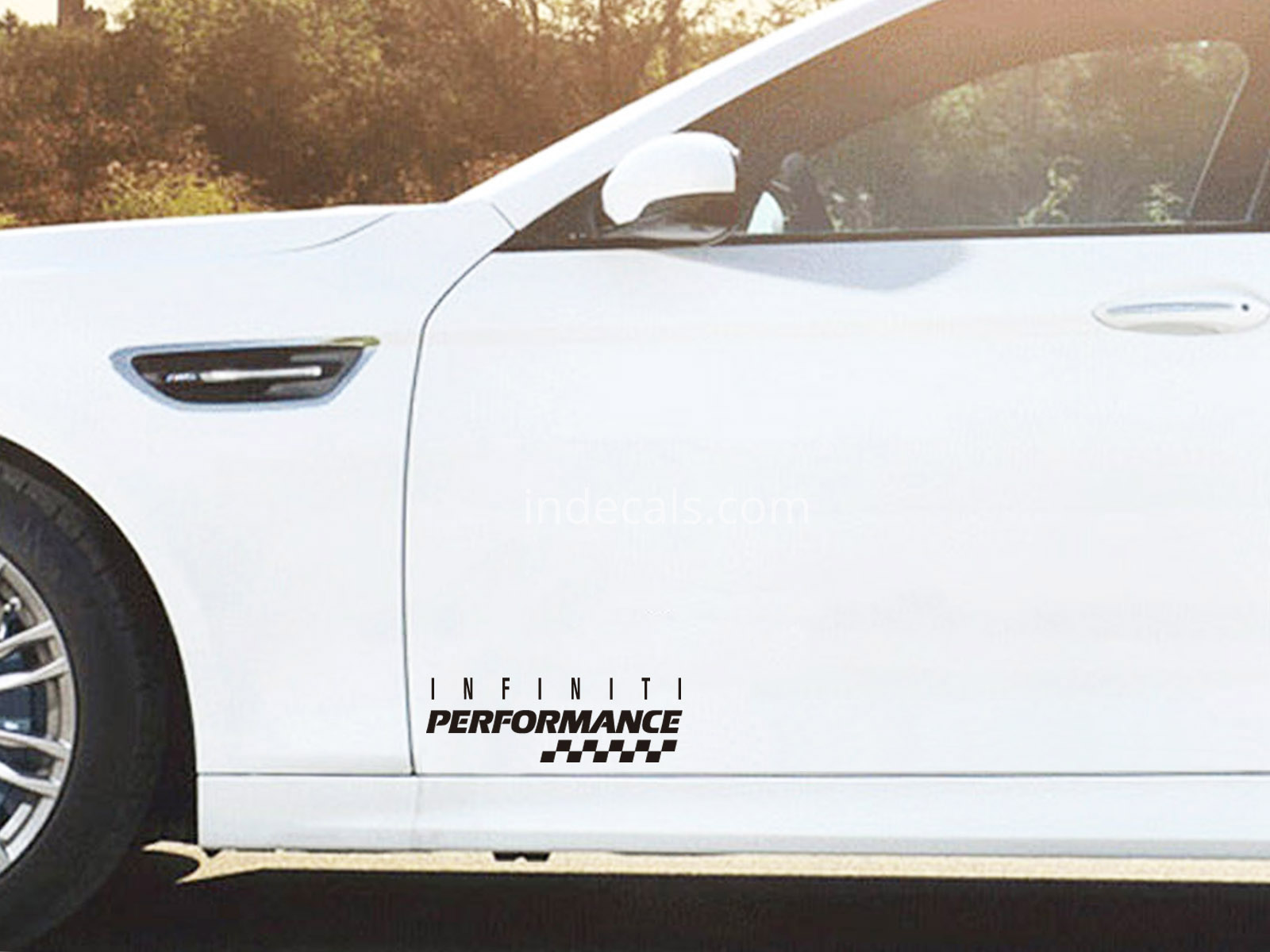 2 x Infiniti Performance Stickers for Doors - Black