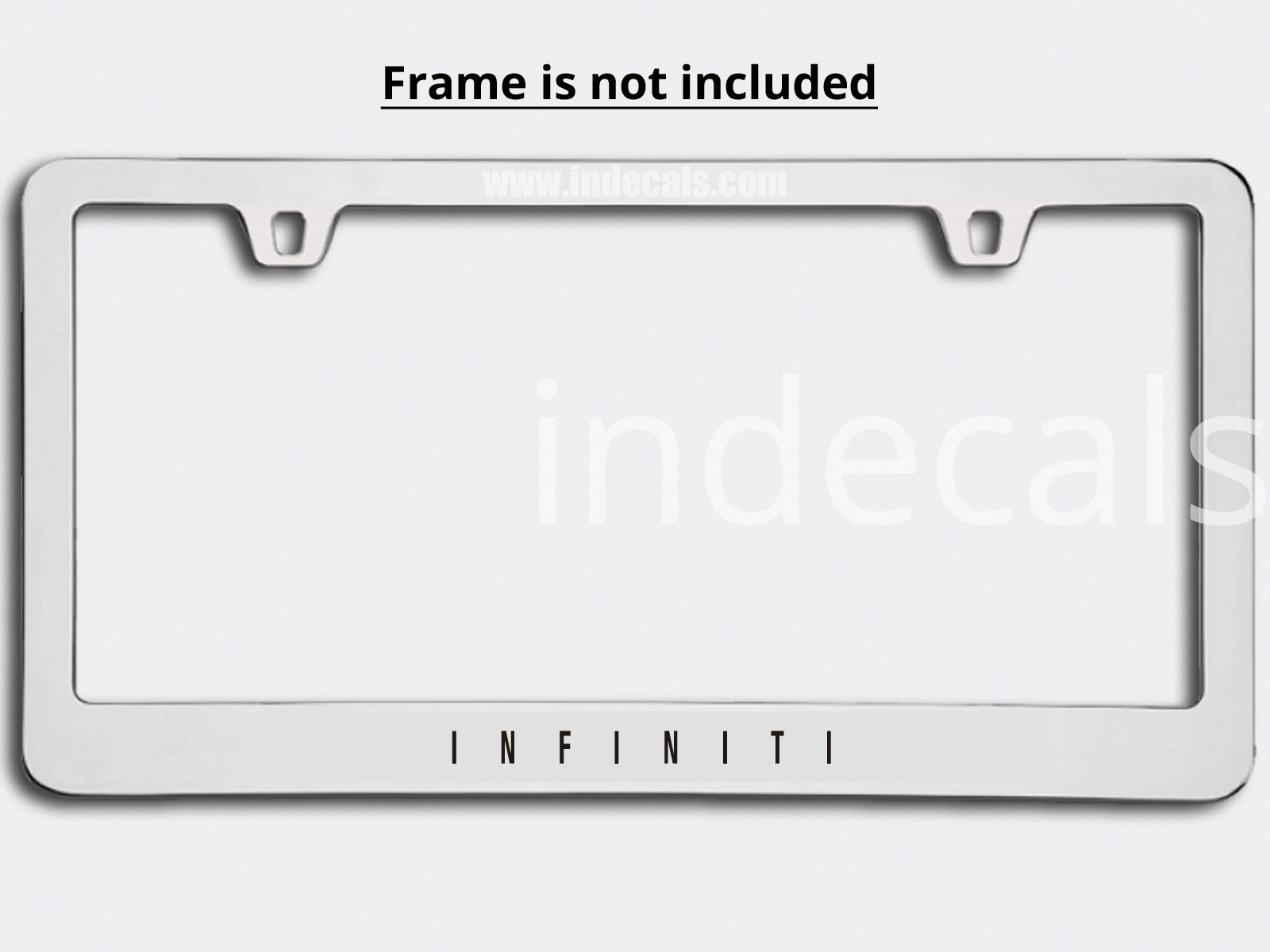 3 x Infiniti Stickers for Plate Frame - Black